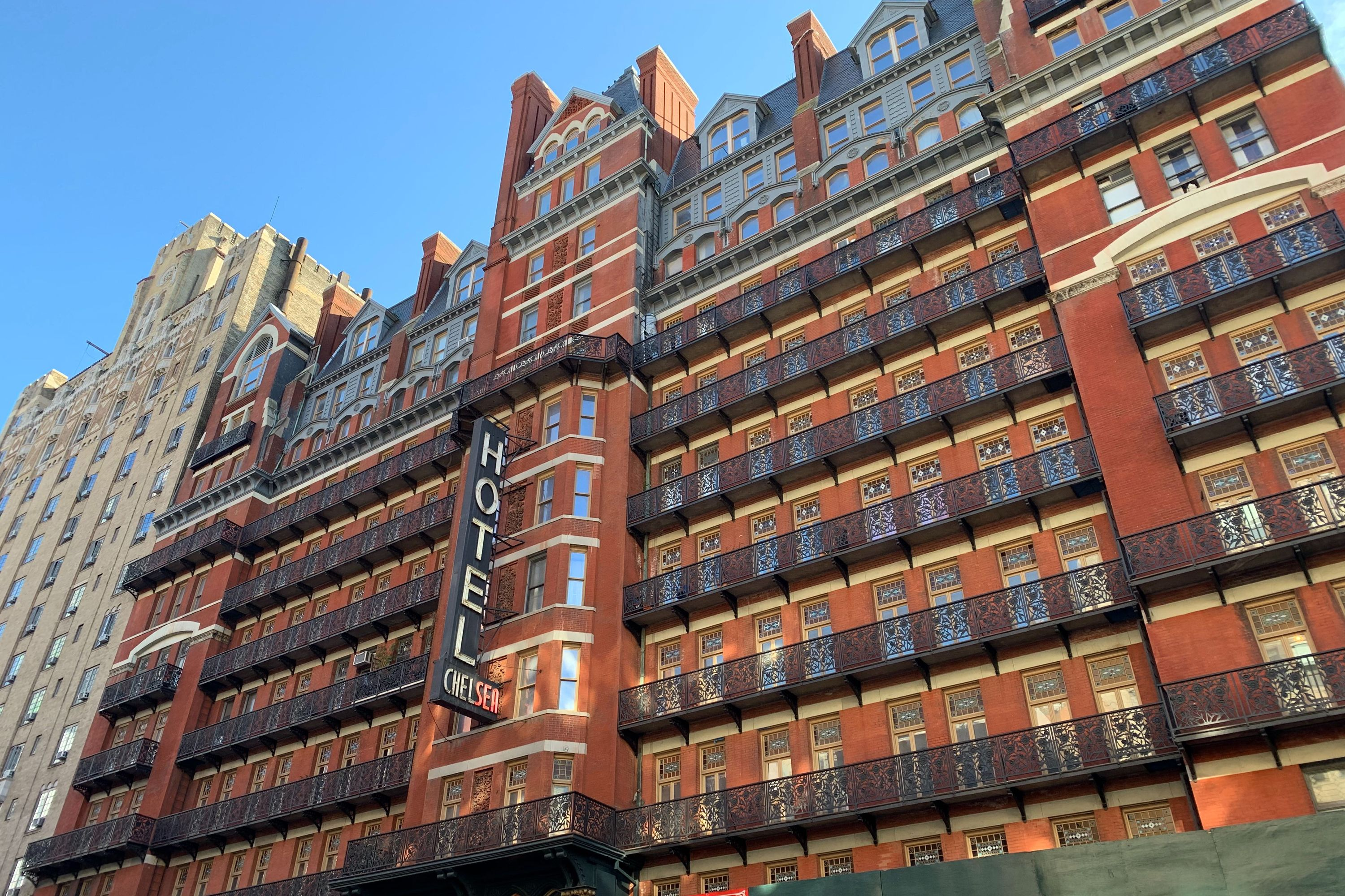 The Chelsea Hotel has been undergoing years of renovations.