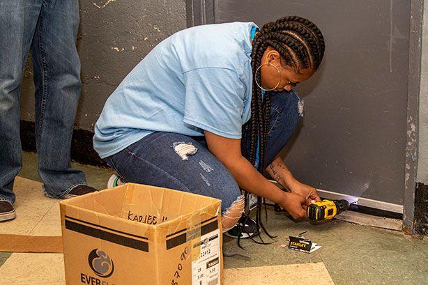 NYCHA compactor room door sweep