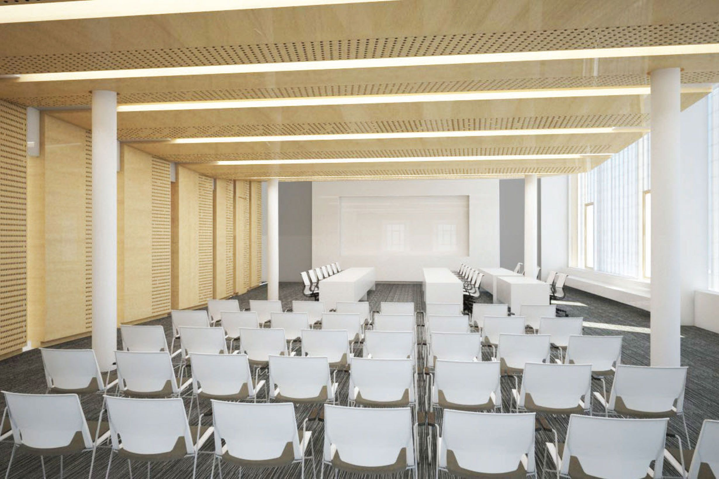 Planned Landmarks Preservation Commission hearing room