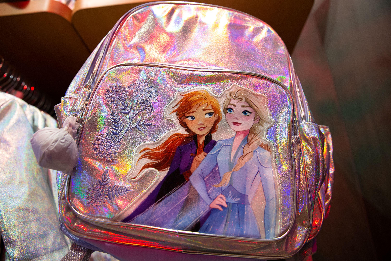"""Disney """"Frozen""""-themed backpacks."""