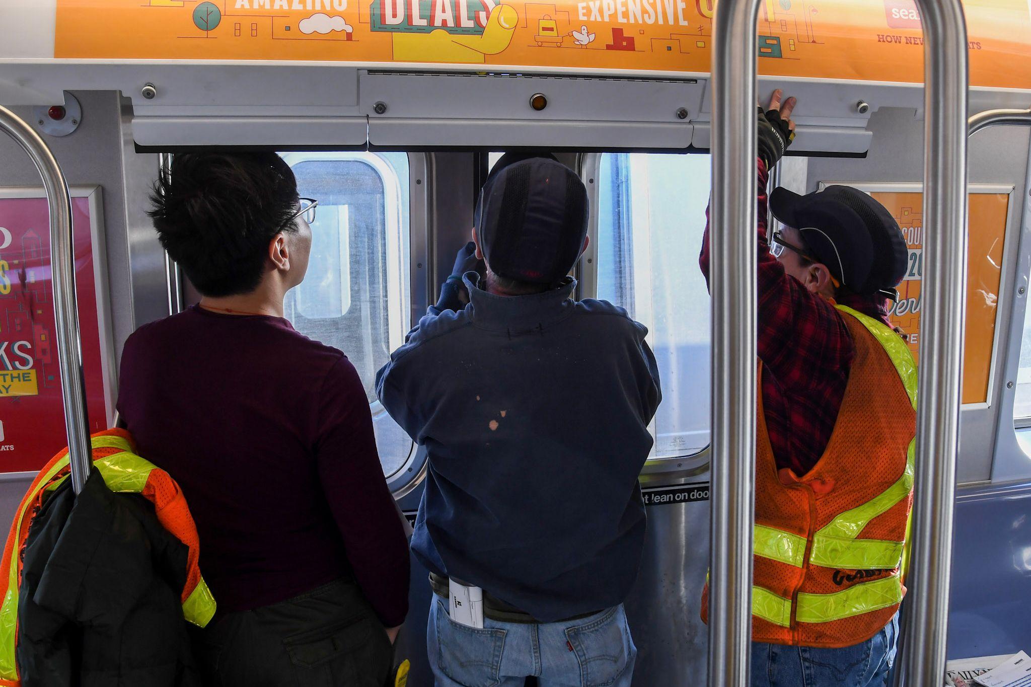 Subway door inspection