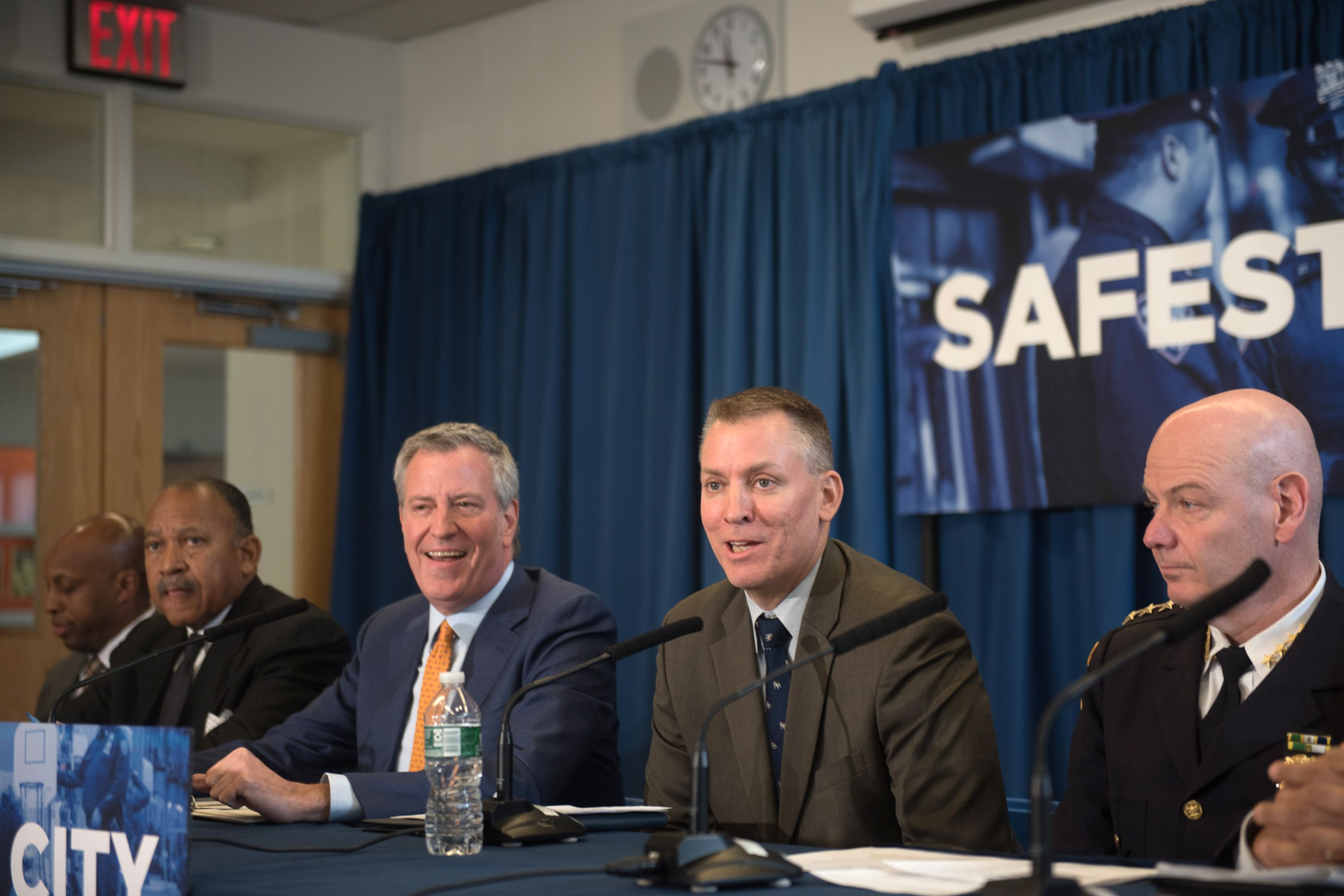 NYPD Commissioner Dermot Shea speaks in The Bronx about monthly crime statistics, Dec. 5, 2019.