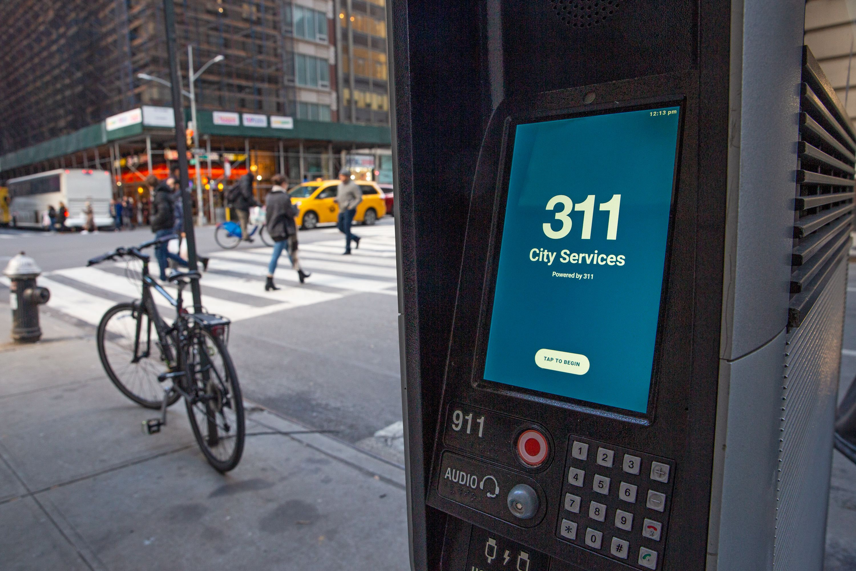 311 on LinkNYC