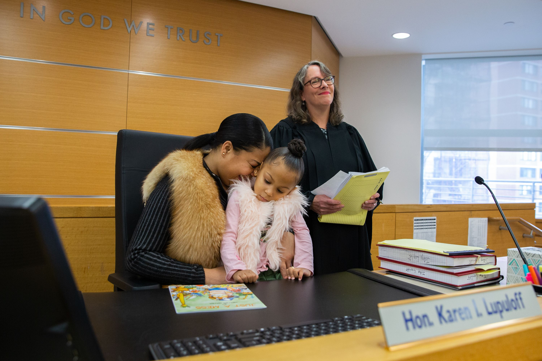 Manhattan adoption ceremony