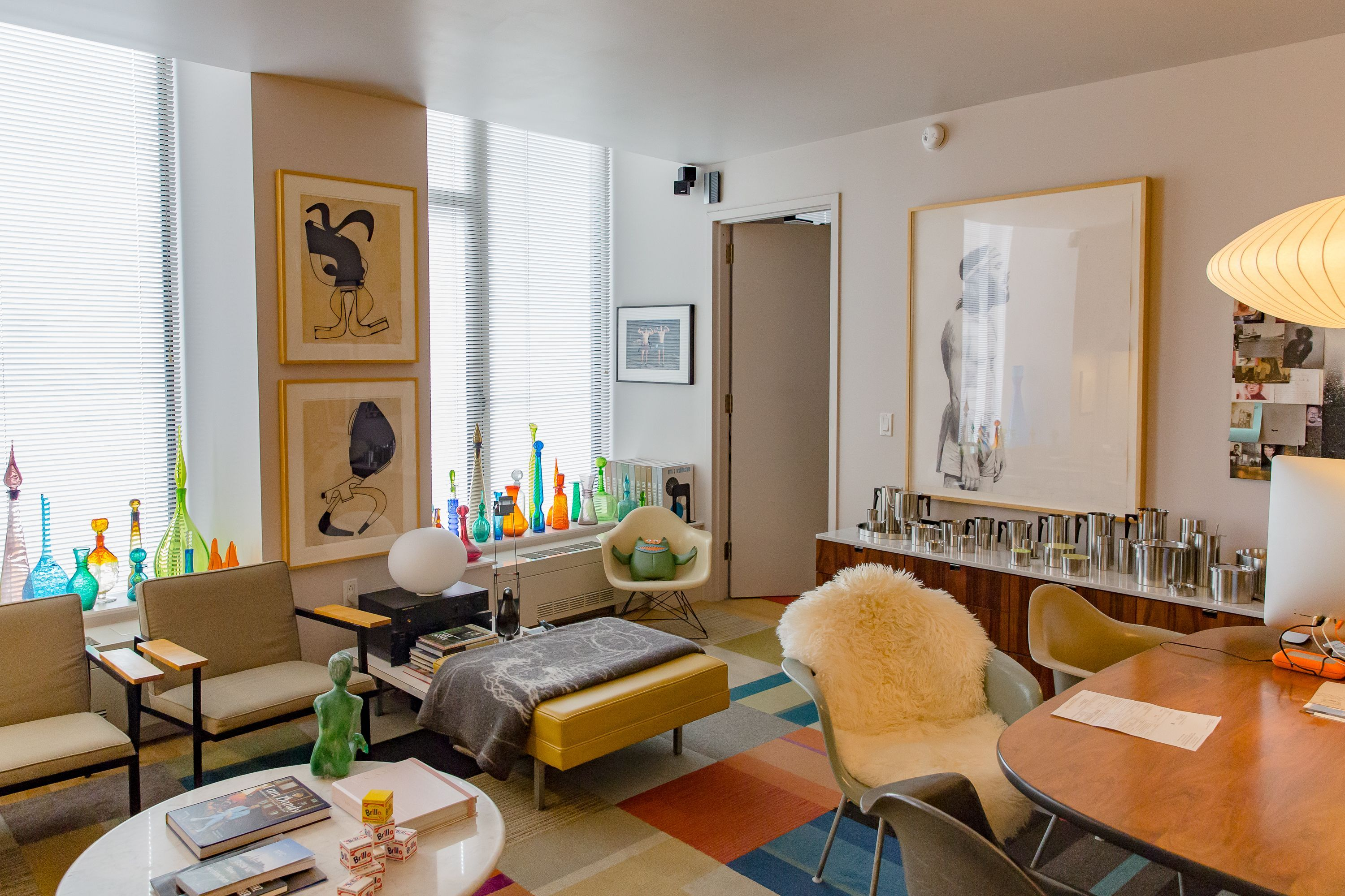 Tim and Bruce's living room in their Hanover Square apartment.