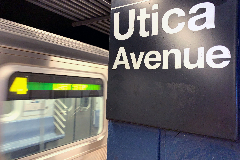 4 train at Utica Avenue