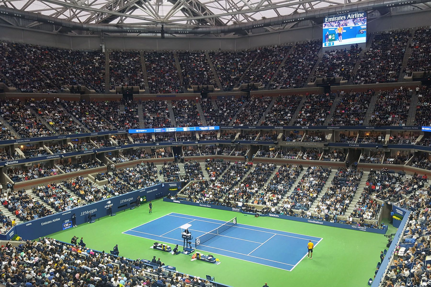 The U.S. Open finals on Sept 9, 2018, as Novak Djokovic bested Juan del Potro.