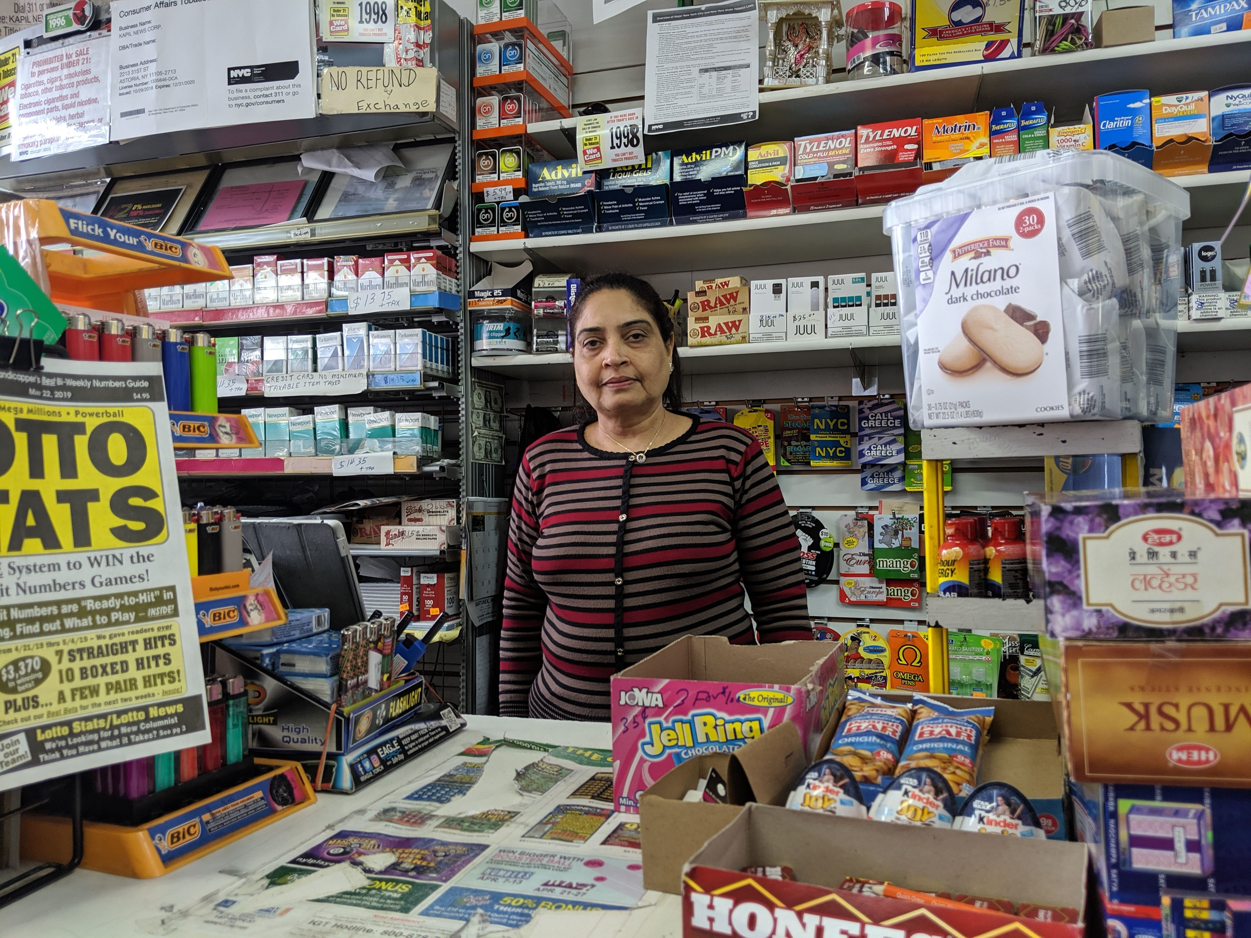 Kinnira Patel has operated a newsstand for a decade at the Astoria site of a planned Target retail complex.