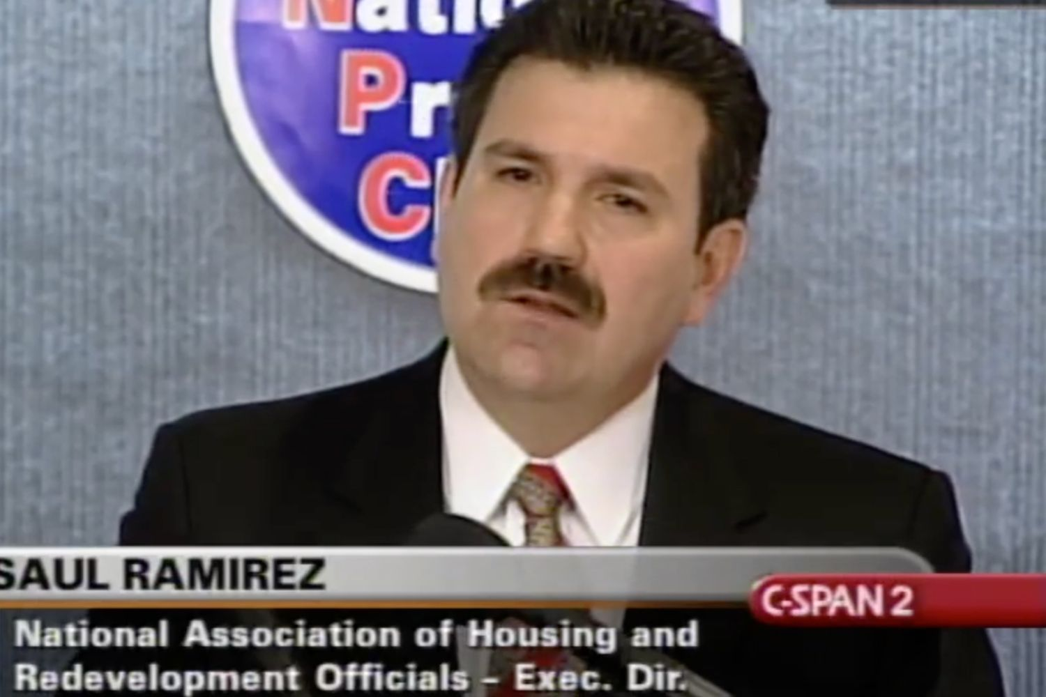 Saul Ramirez speaking on behalf of the National Association of Housing and Redevelopment in 2003.