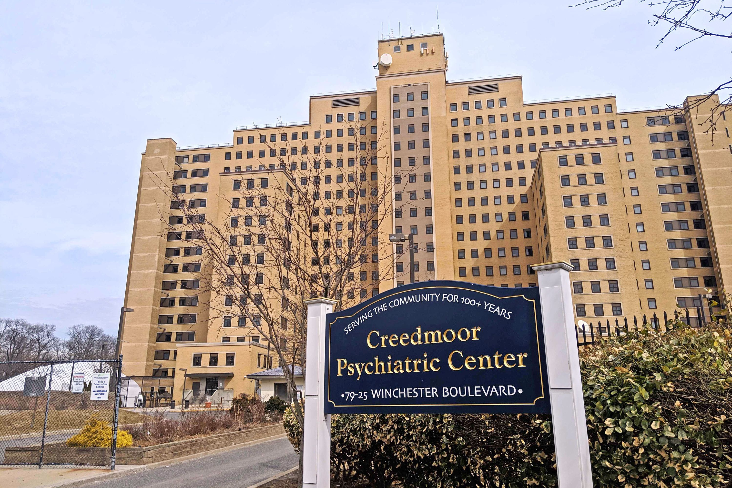 Creedmoor Psychiatric Center looms over Queens Village.