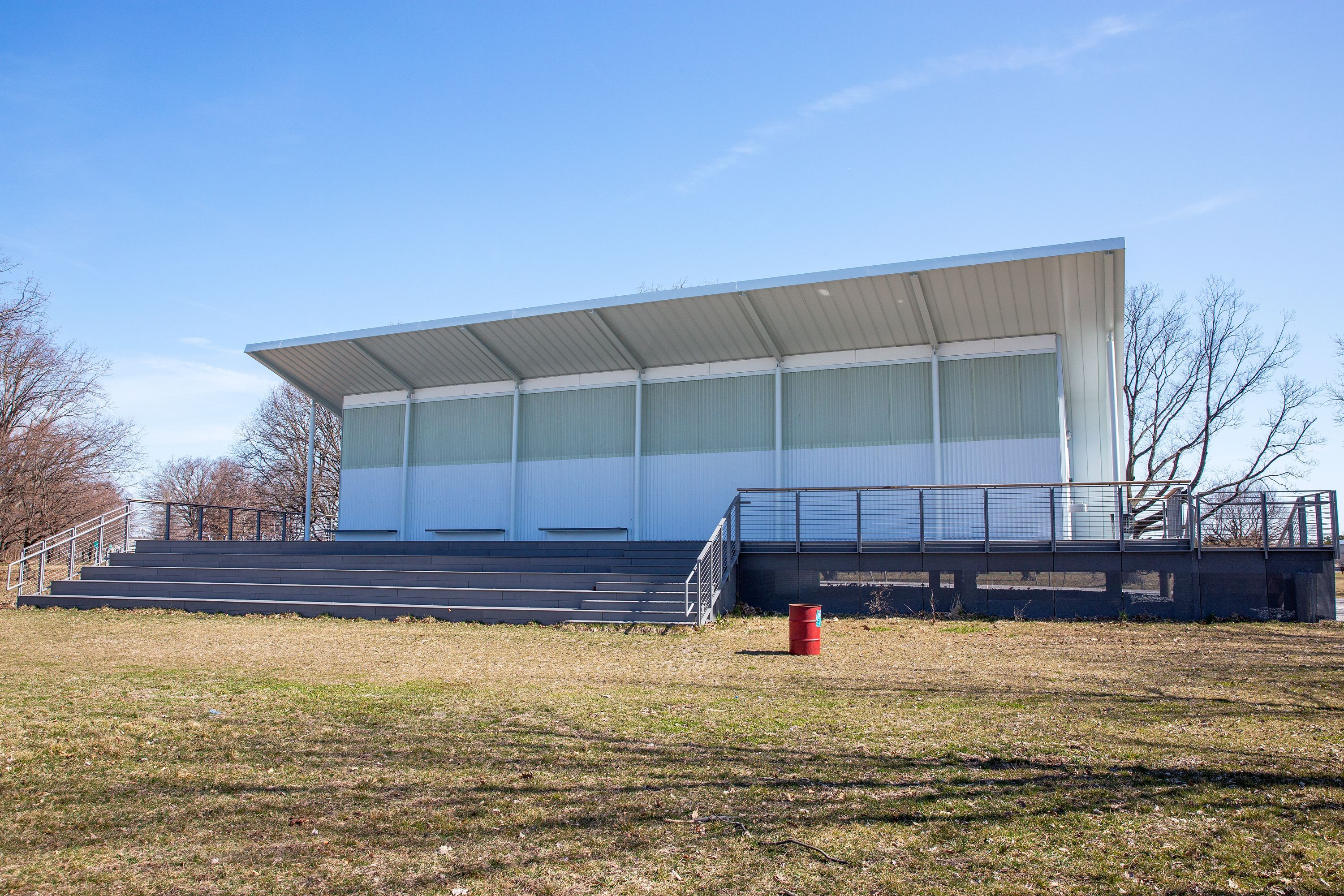 A public bathroom in Ferry Point Park in The Bronx cost nearly $5 million to construct, March 27, 2019.