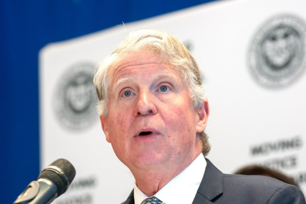 Manhattan District Attorney Cyrus Vance, Jr. announces during a press conference at John Jay College of Criminal Justice the results of a nationwide program that tested more than 55,000 rape kits, March 12, 2019.Photo credit: Ben Fractenberg/THE CITY