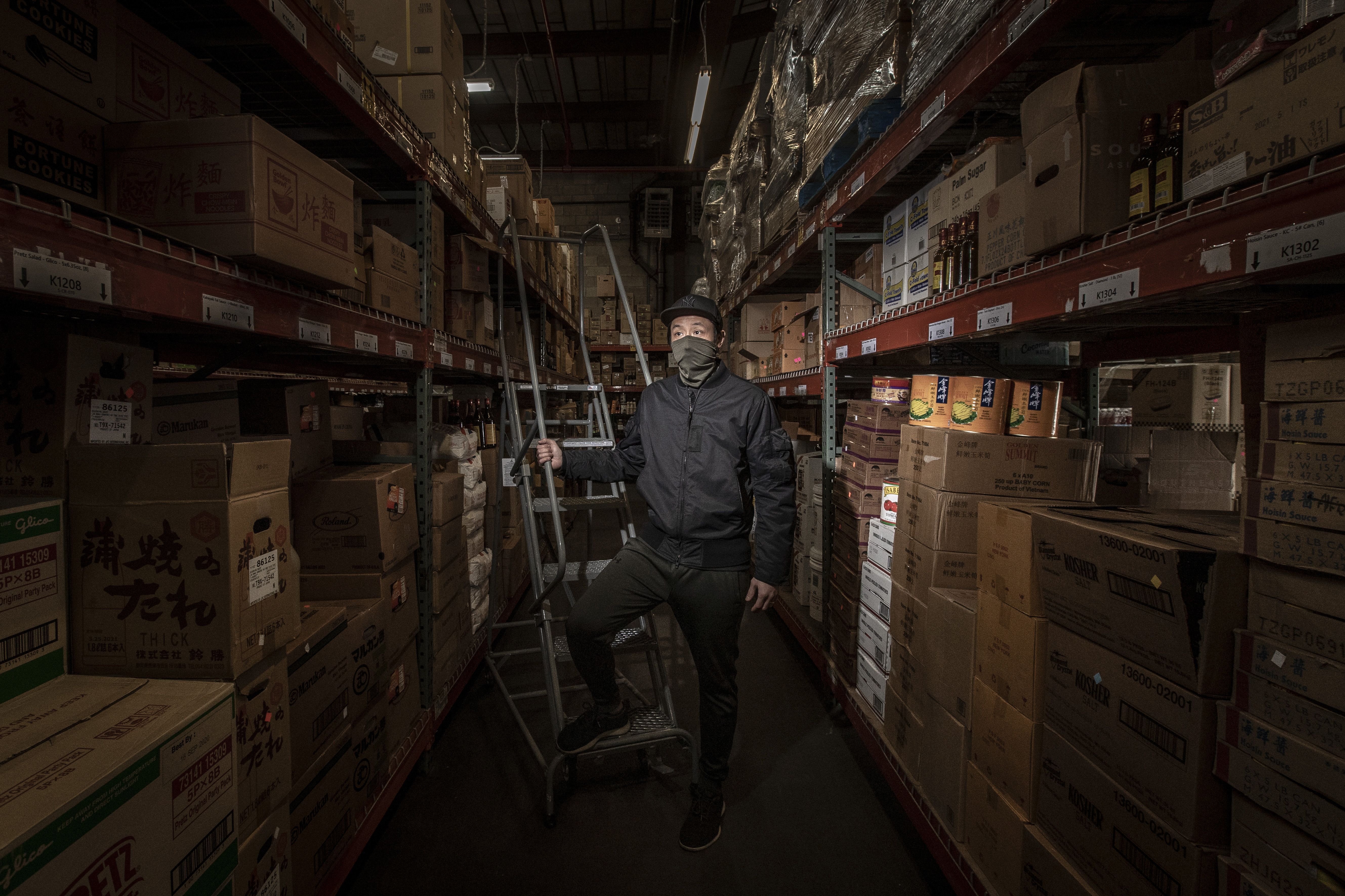 Kevin Liang, CEO of Southeast Asia Food Group, in his warehouse