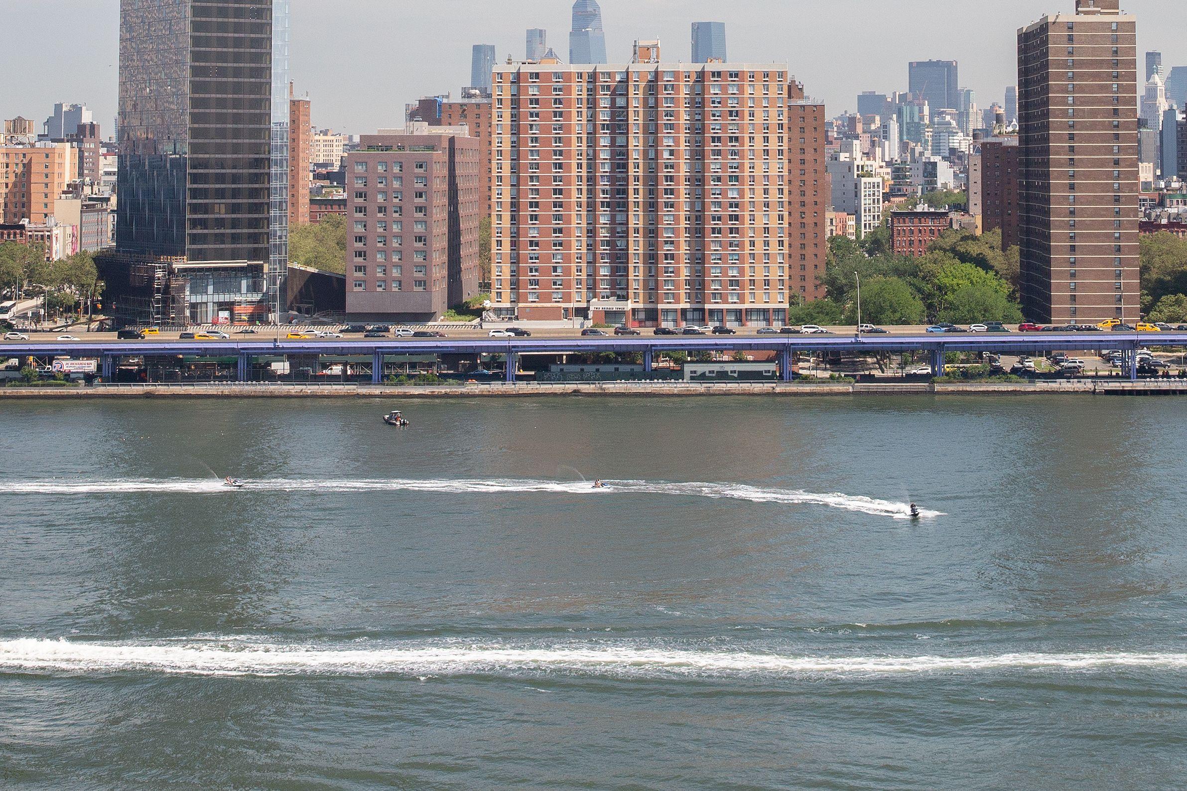 East River at Two Bridges