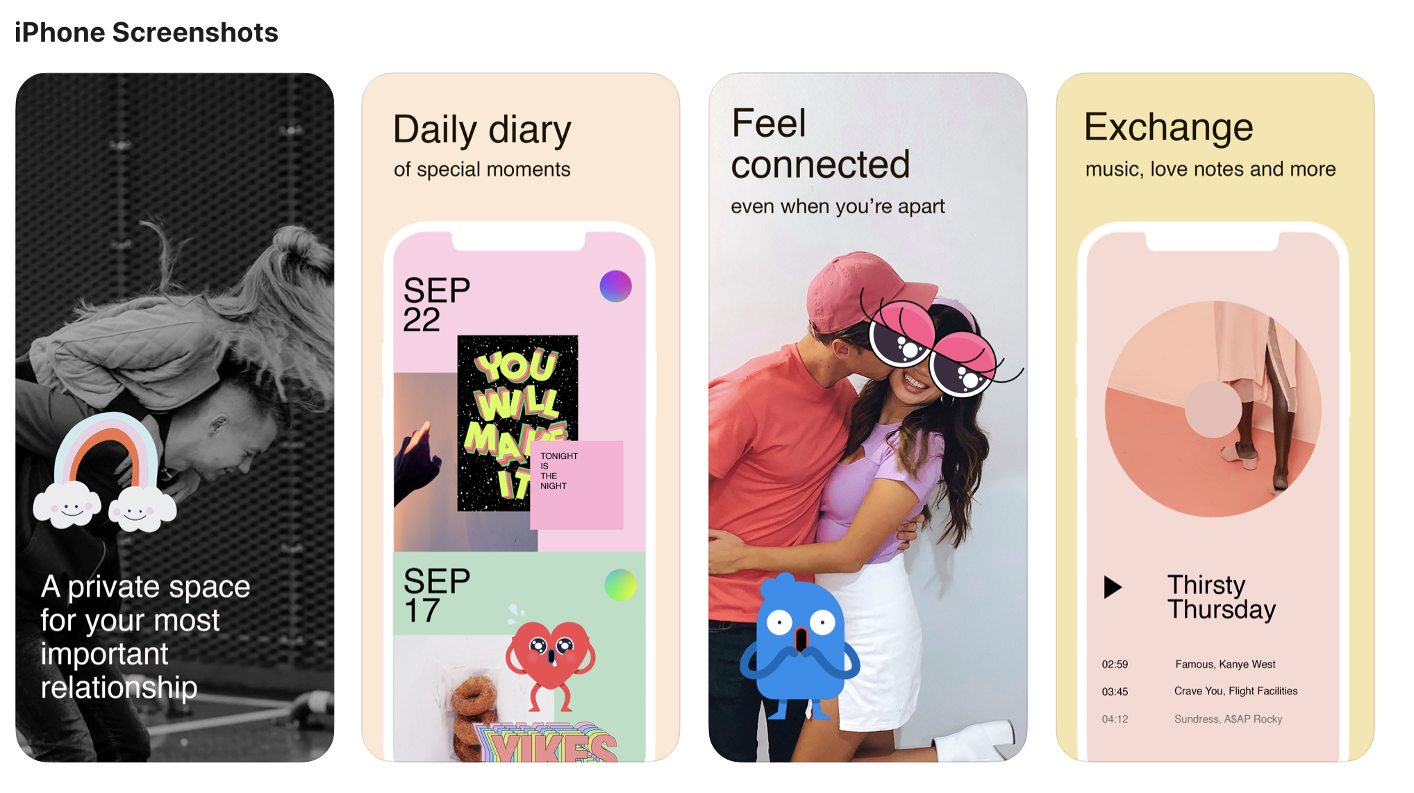 The new app — called Tuned — gives couples a chance to create a social media network between themselves, according to The Information. The couples can share photos, music, memories and moods together on the app without going public to the rest of their followers.