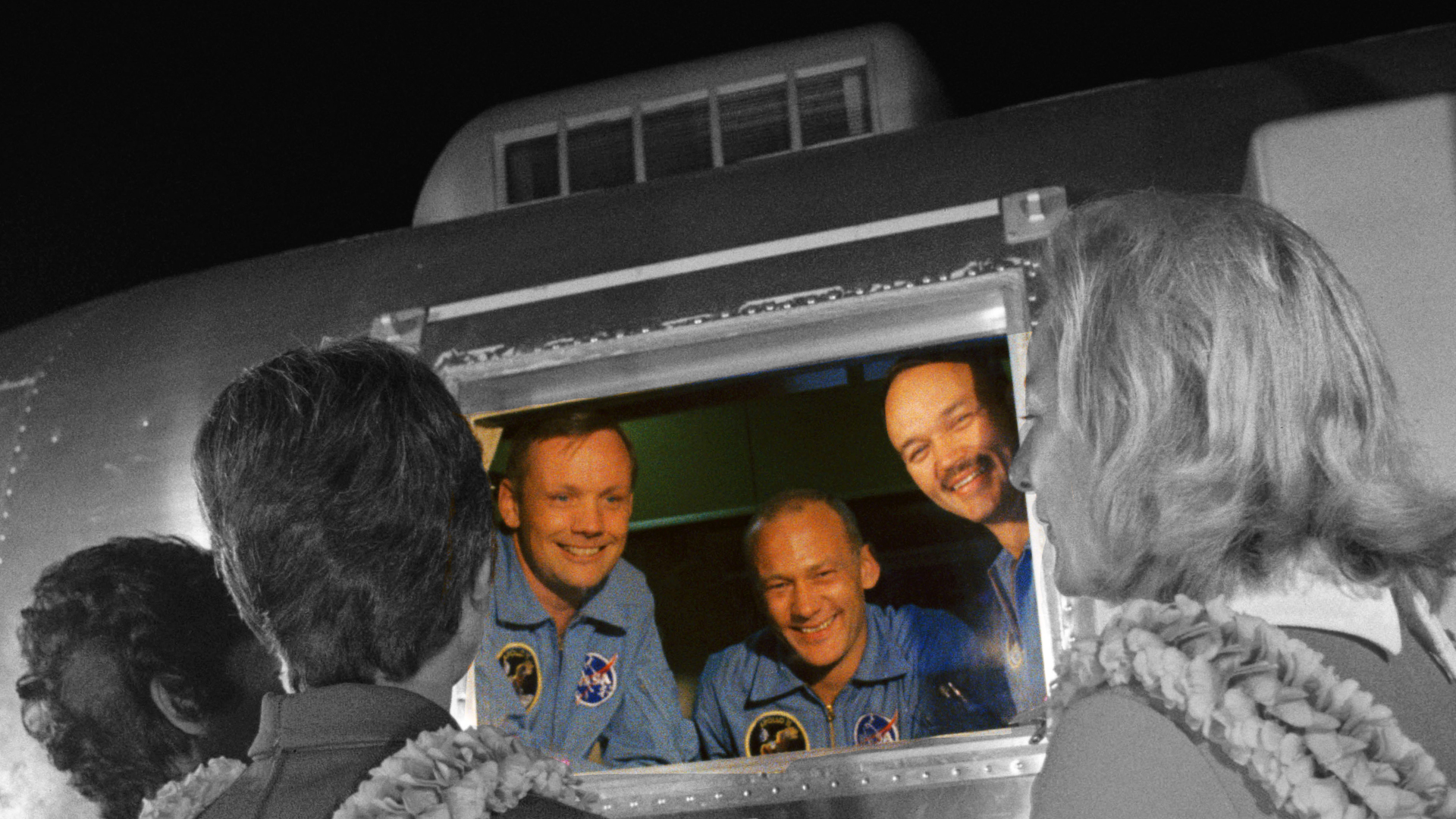 The Apollo 11 Astronauts in quarantine.