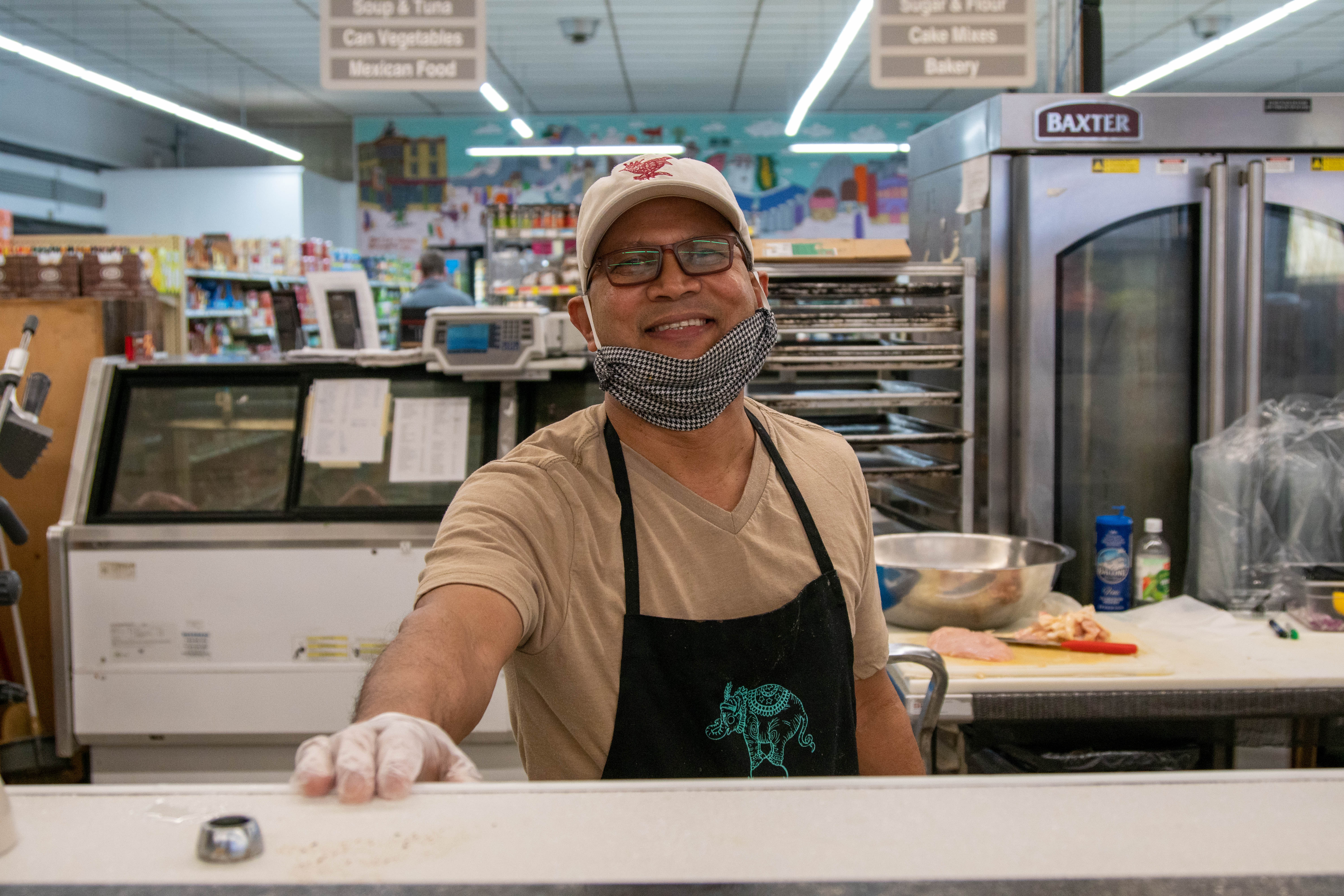 Nihal Gratian, a chef at Carnival Grocery in Oak Park.