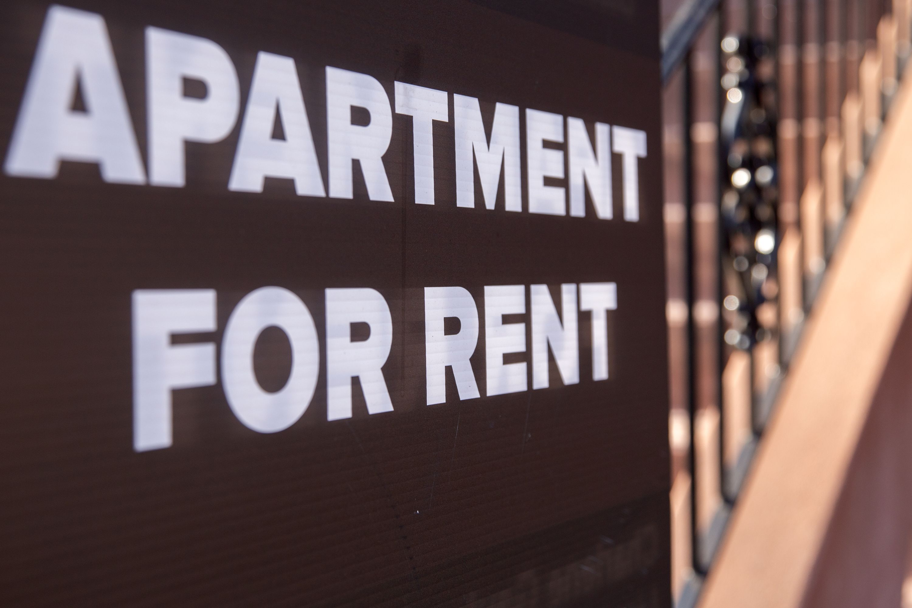 A for-rent sign in Bed-Stuy, Brooklyn.