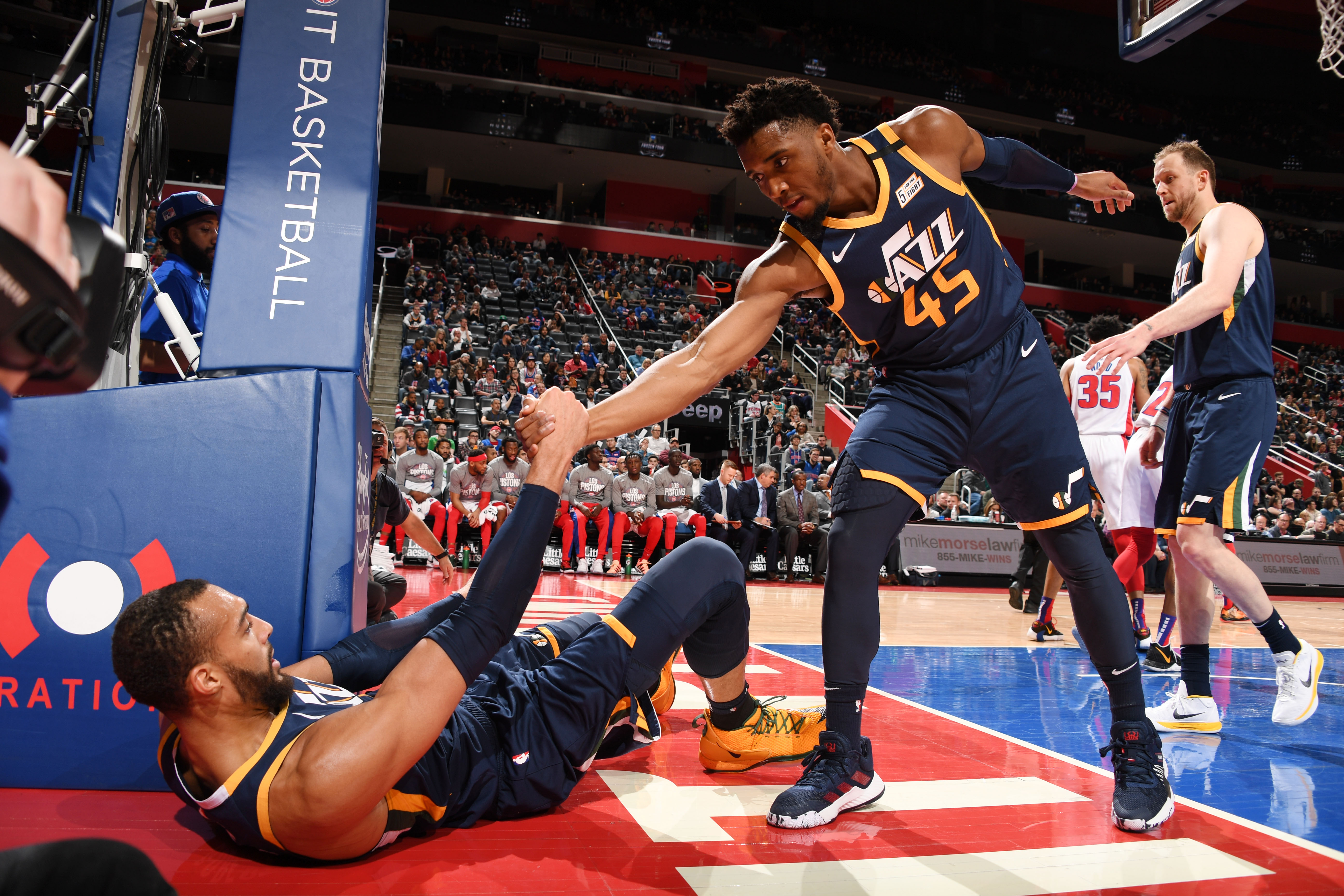 Utah Jazz v Detroit Pistons