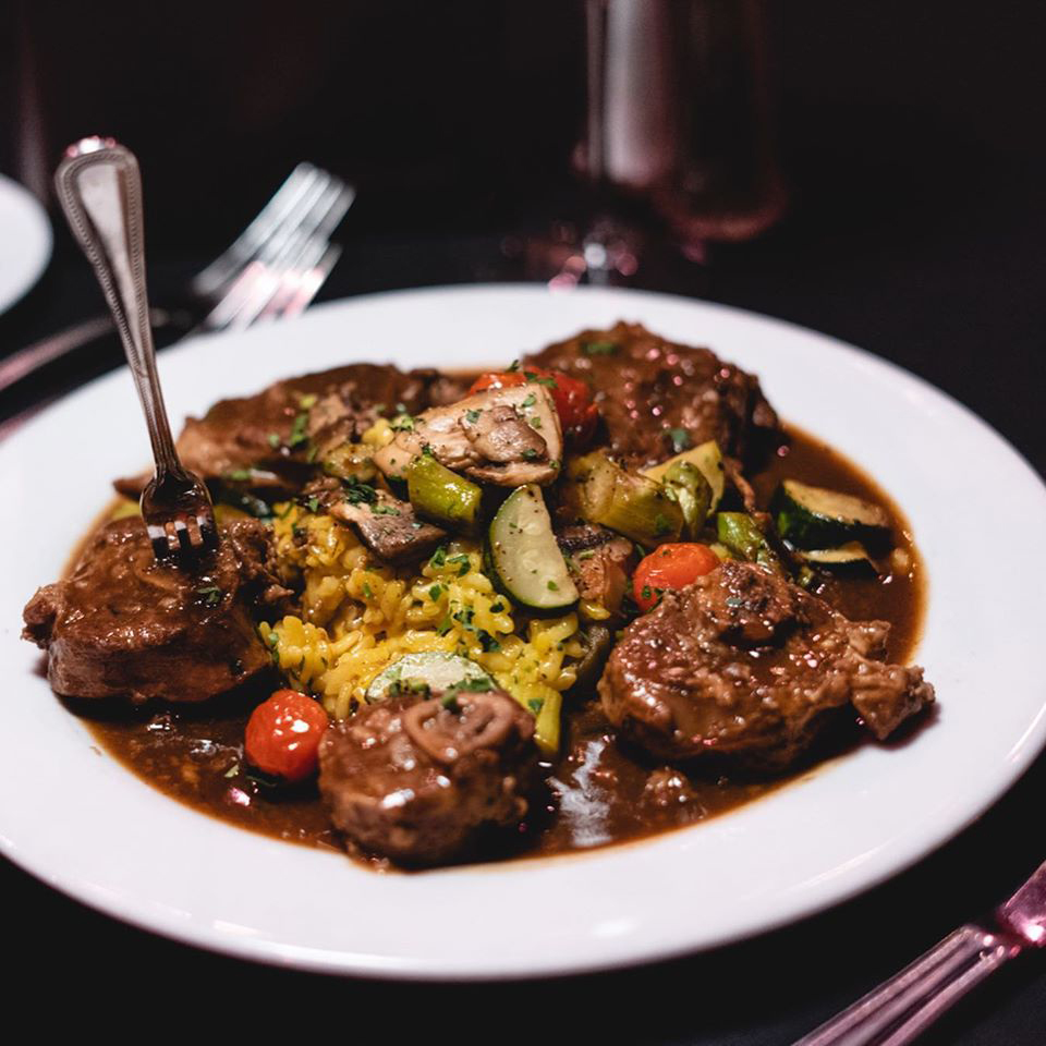 Osso bucco remains on the Italian specialty menu for takeout and delivery at the Bootlegger Italian Bistro.