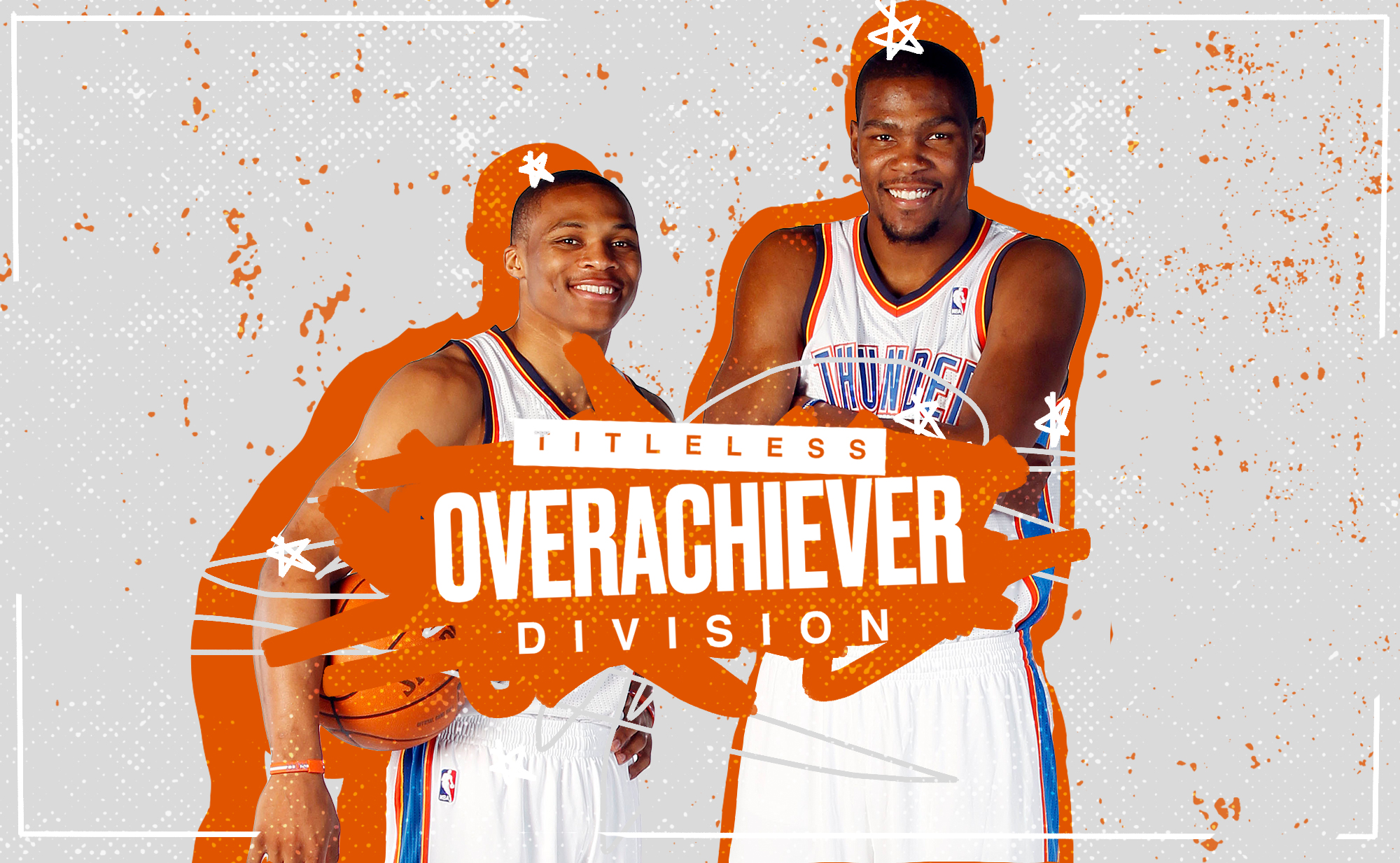 Russell Westbrook and Kevin Durant on the Thunder.