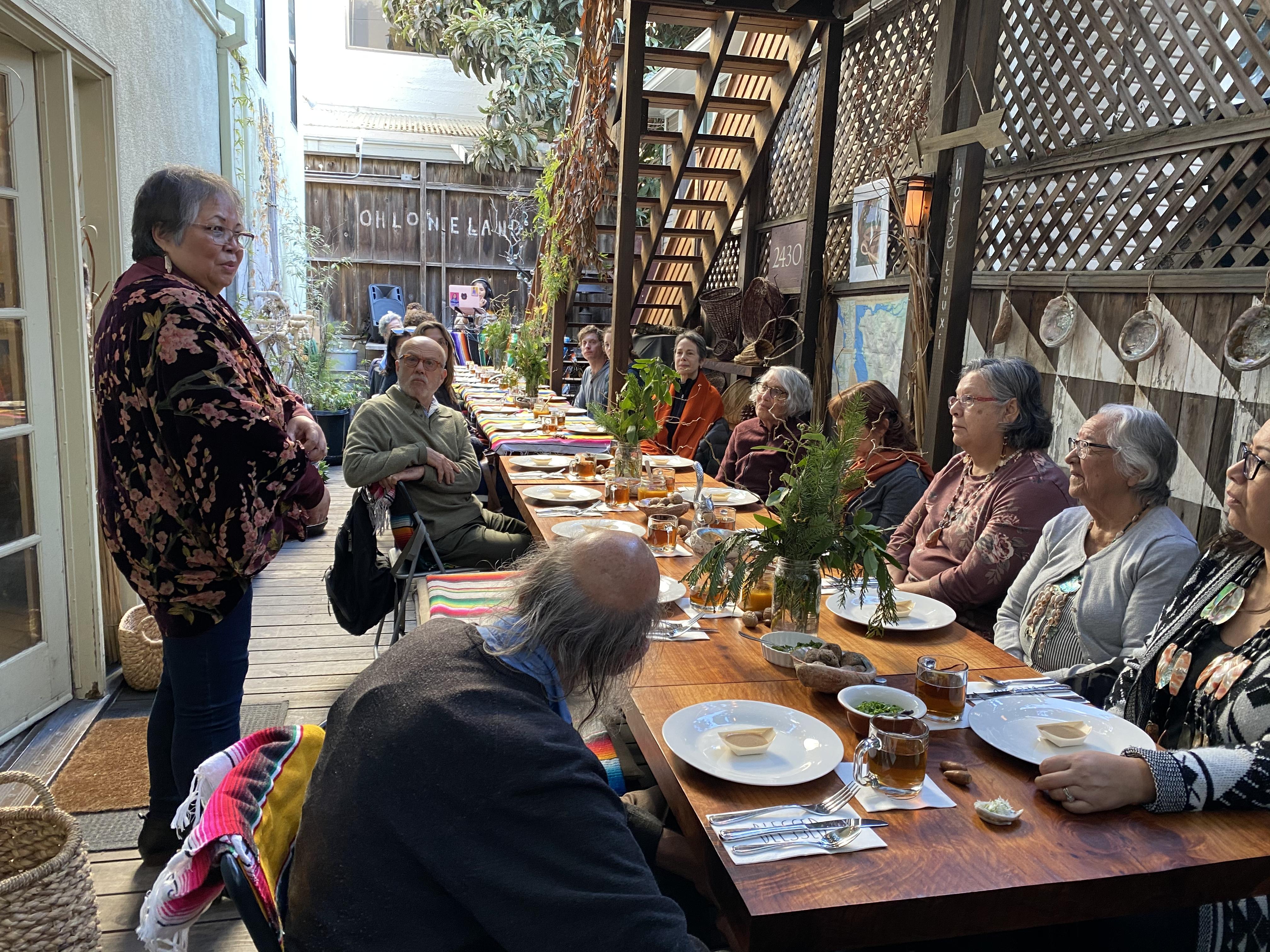 A dinner at Cafe Ohlone prior to the coronavirus shutdown