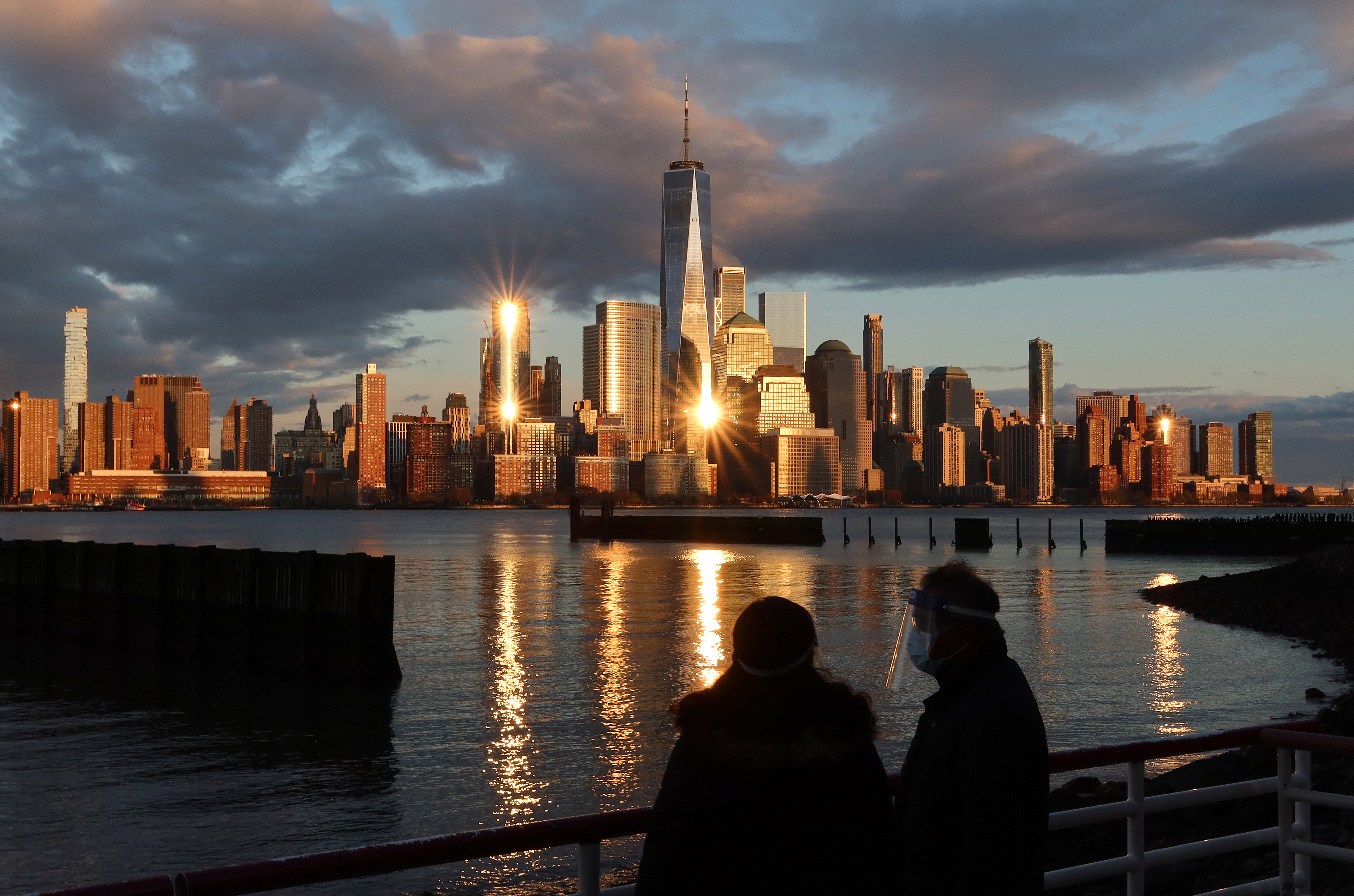 Sunset on Lower Manhattan in New York City