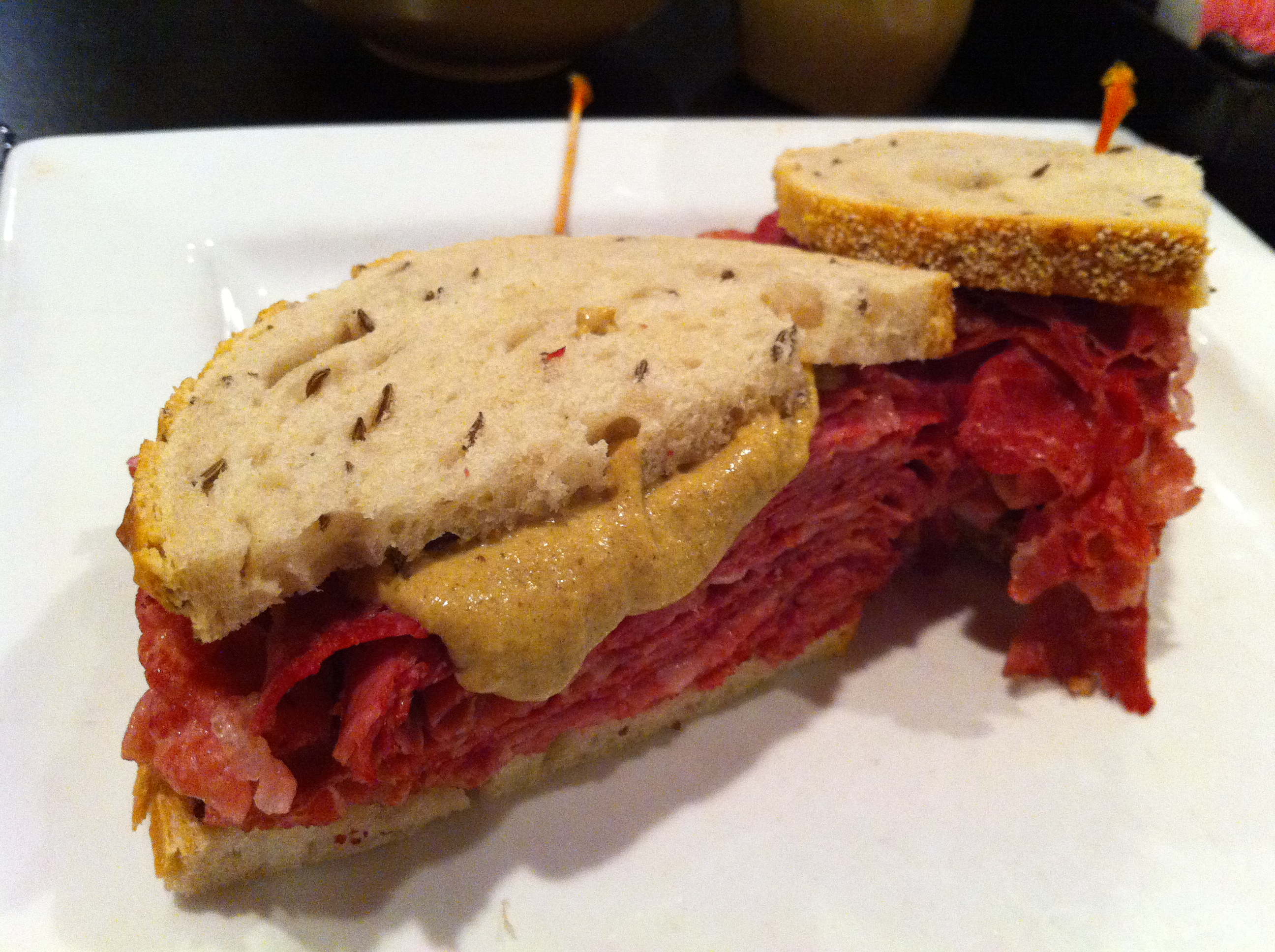 Silver Spring, MD — Dec. 12, 2011. The corned beef sandwich on