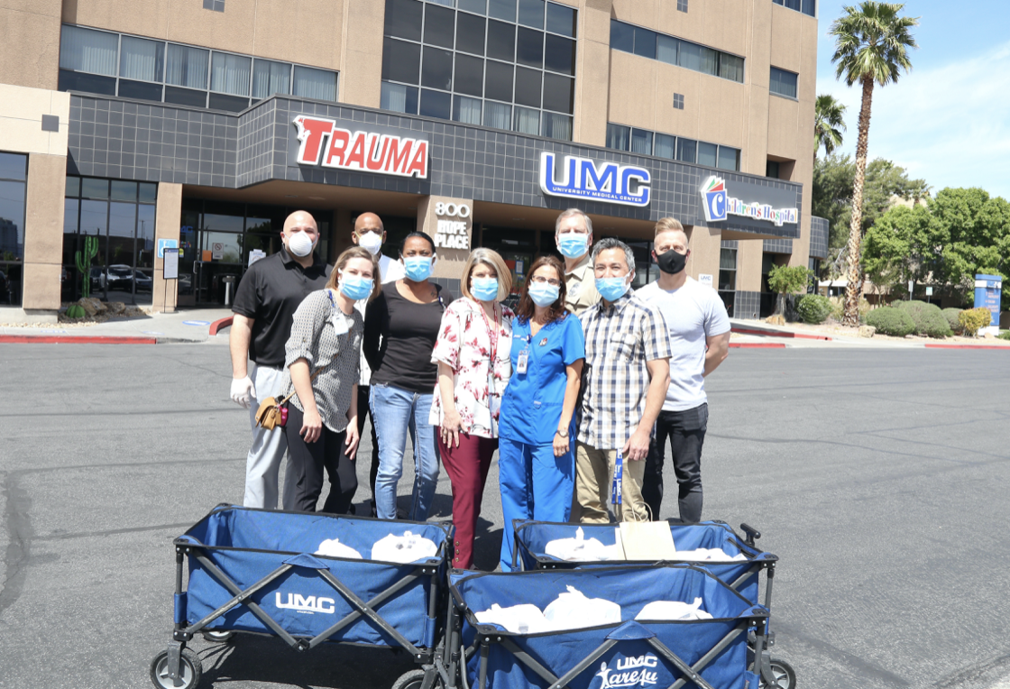 Triple George Grill donates lunch to UMC health workers