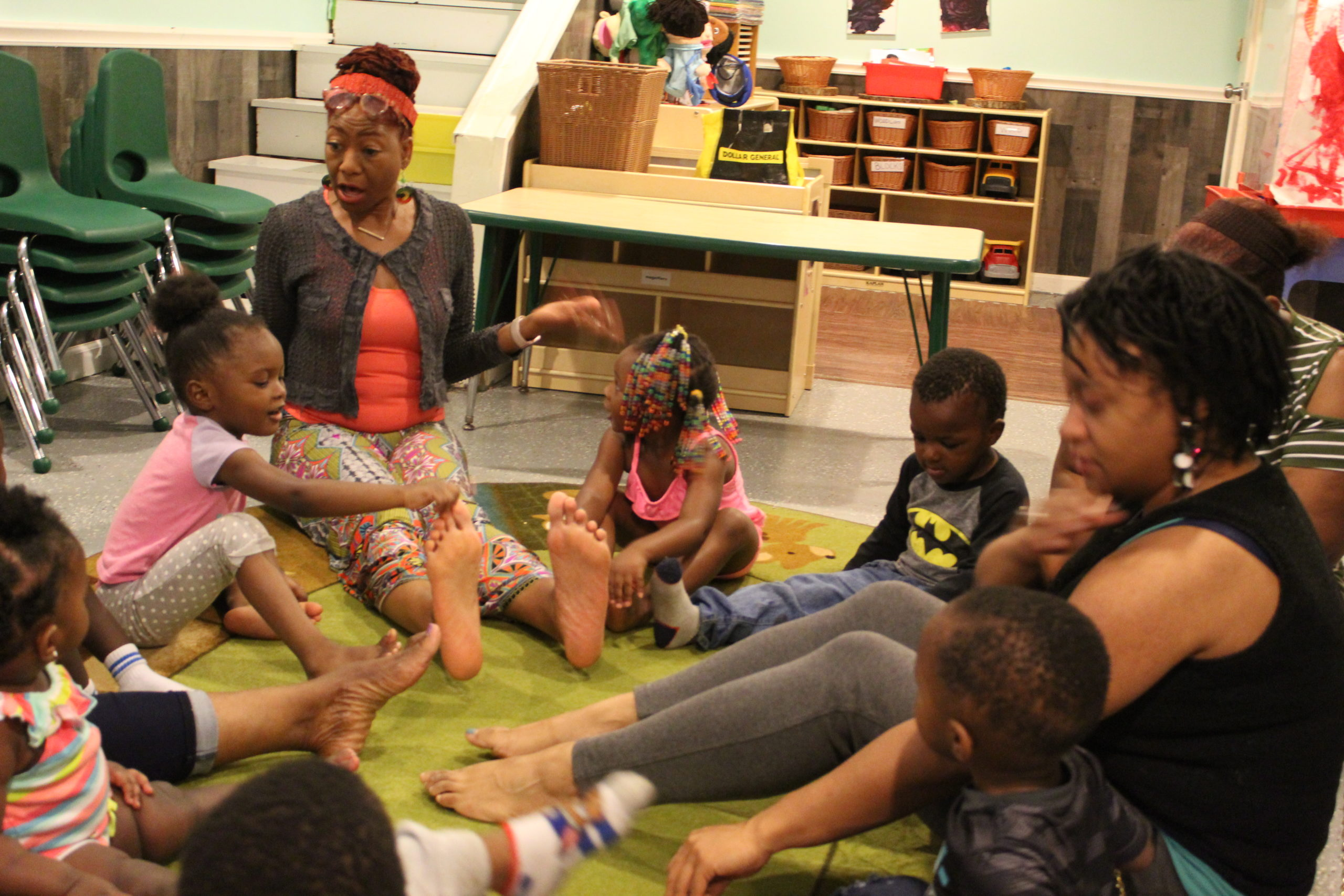 Dance class at Jill's Creative Learning, a home-based child care center in Detroit.