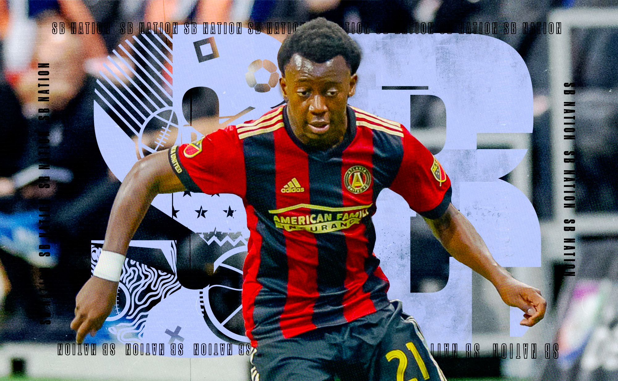 George Bello playing for Atlanta United FC.