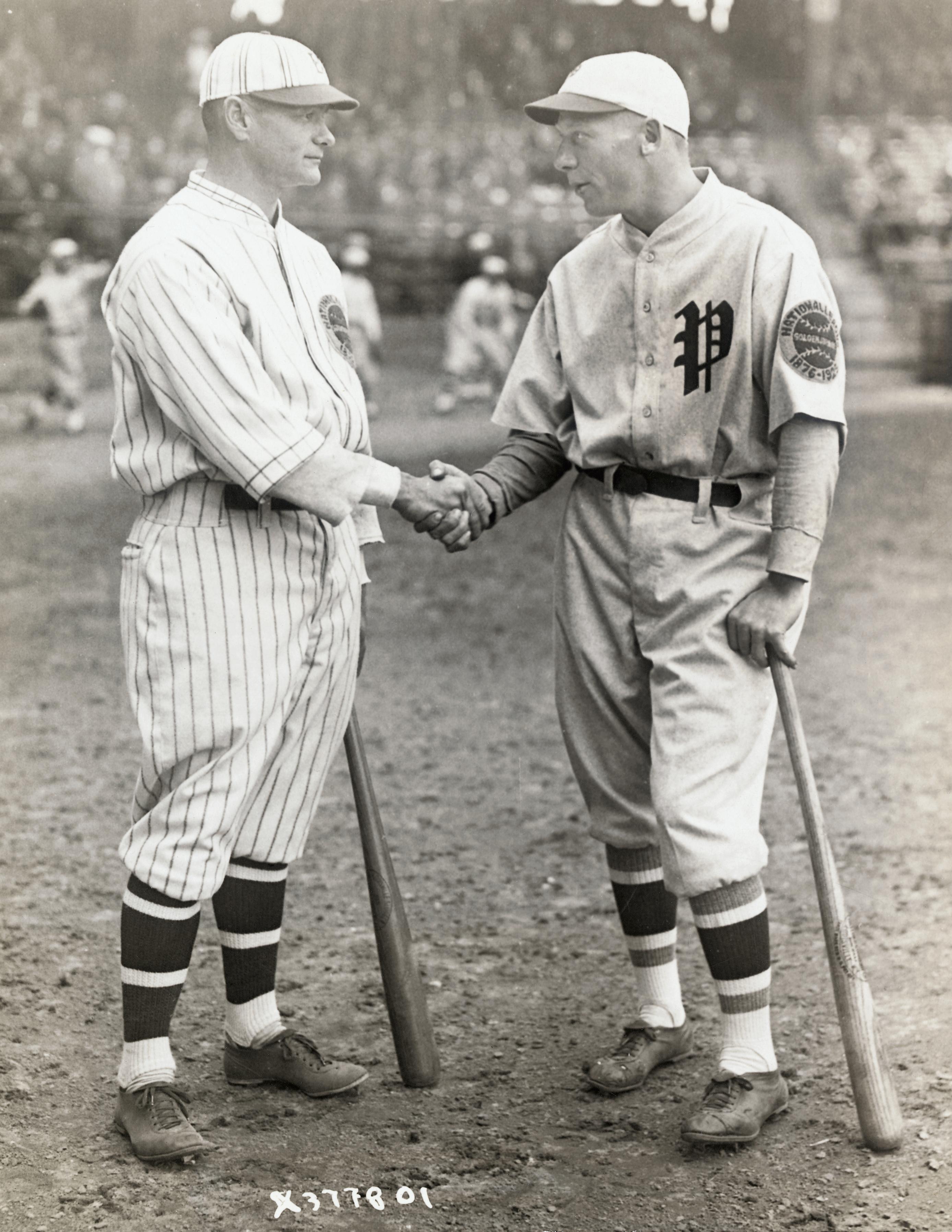Baseball Captains Shaking Hands