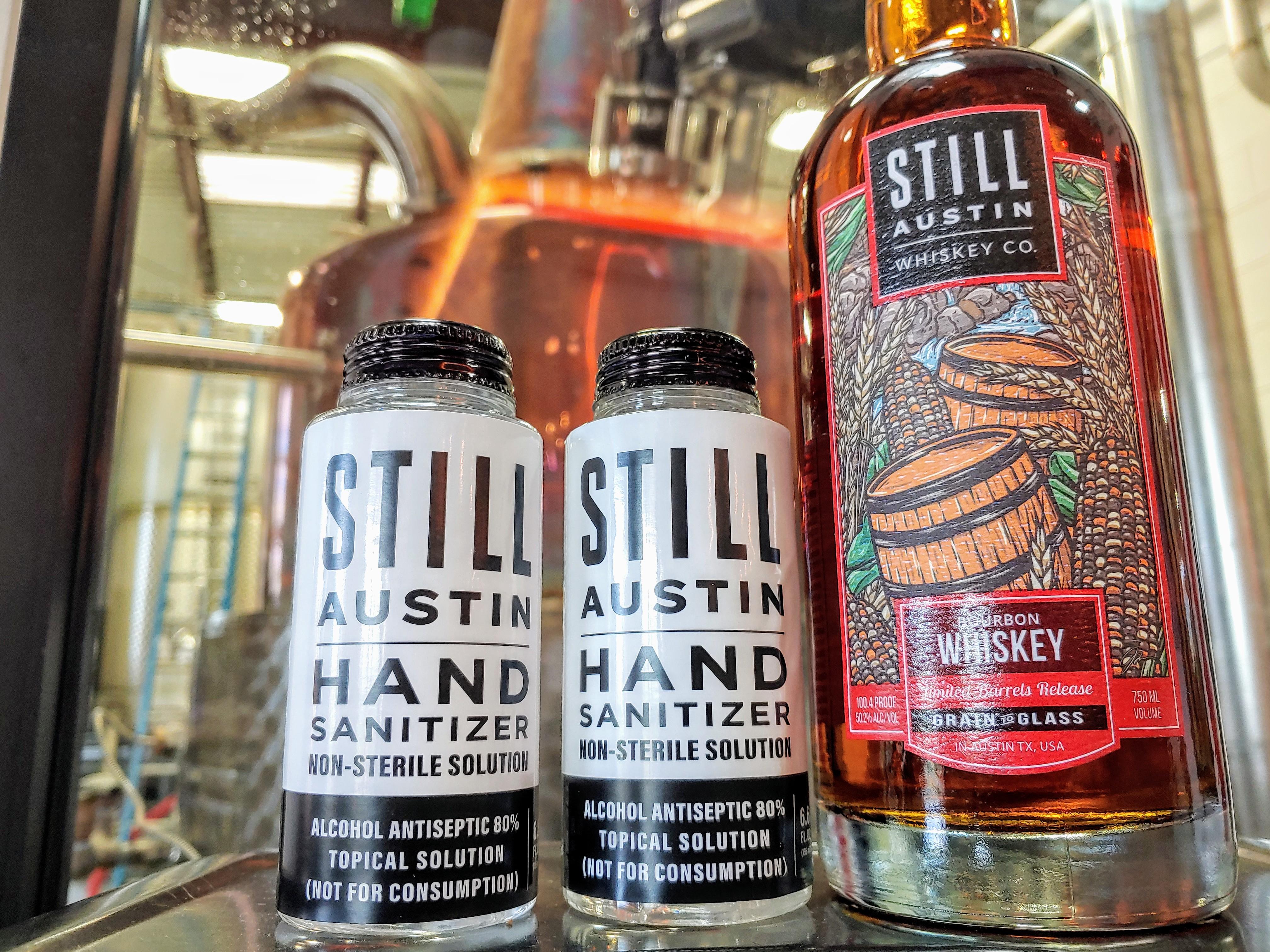 Still Austin's hand sanitizer