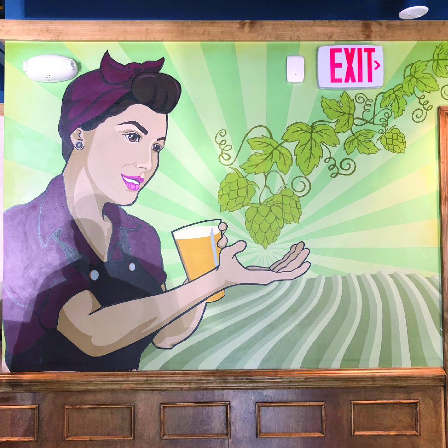 A mural on the wall at Meridian Pint's new restaurant in Dominion Hills.