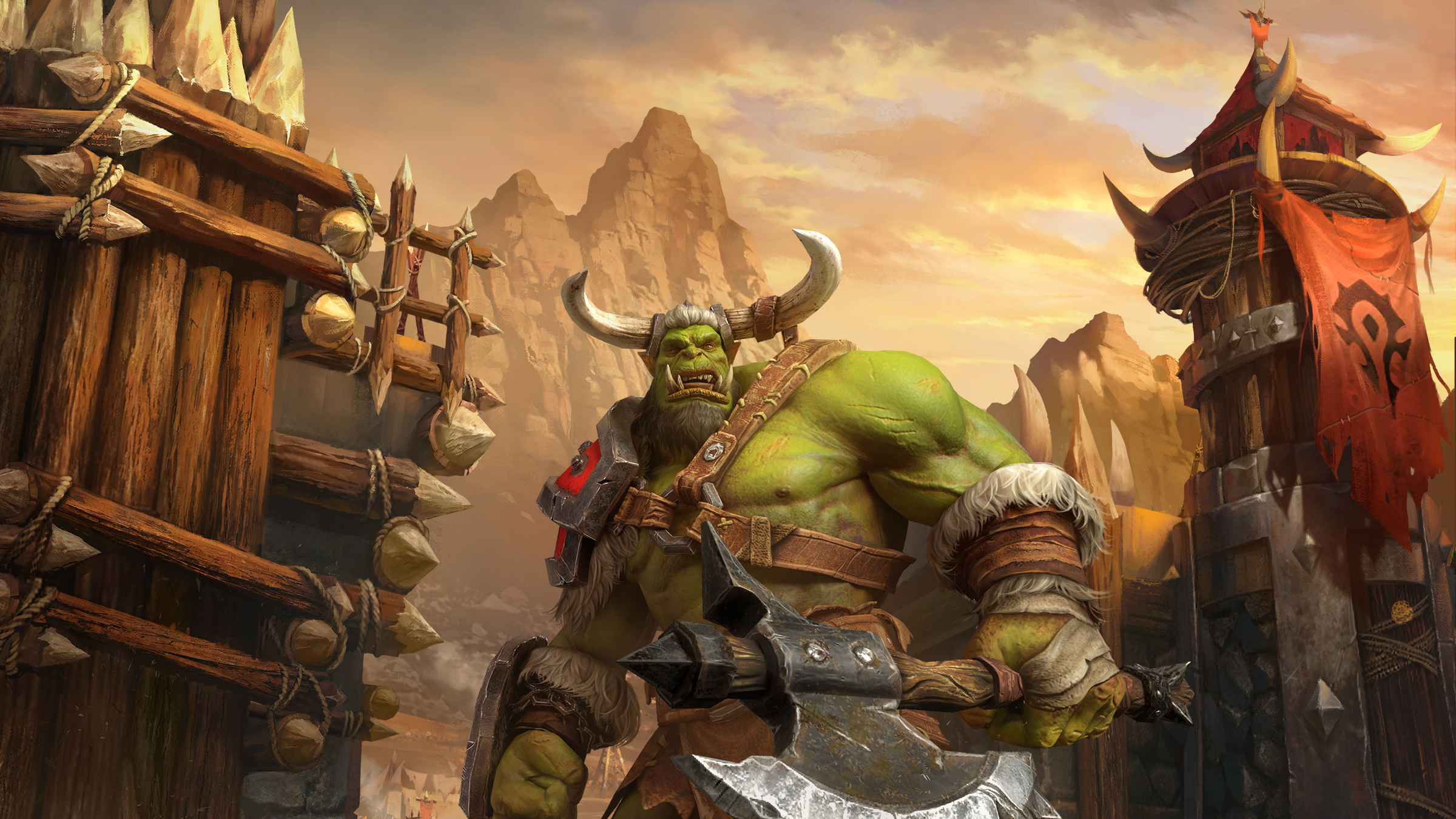 An orc from Warcraft 3 Reforged