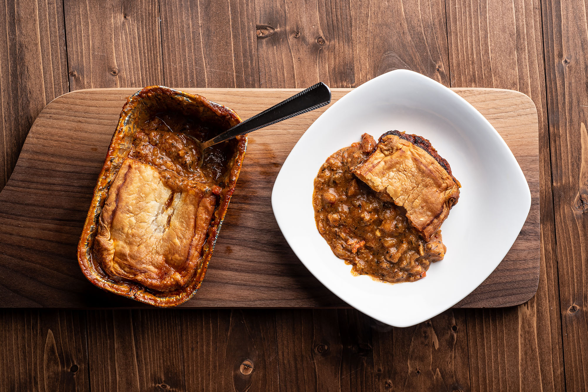 Gumbo pot pie from Bleu Kitchen in Los Angeles