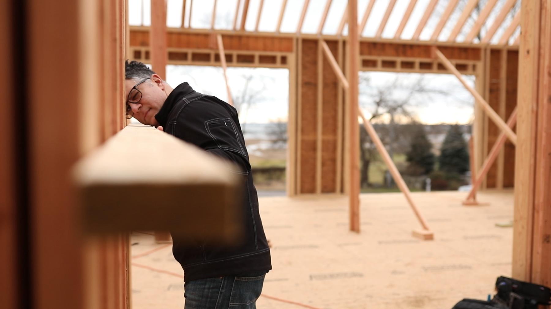 Building the farmhouse in fairfield