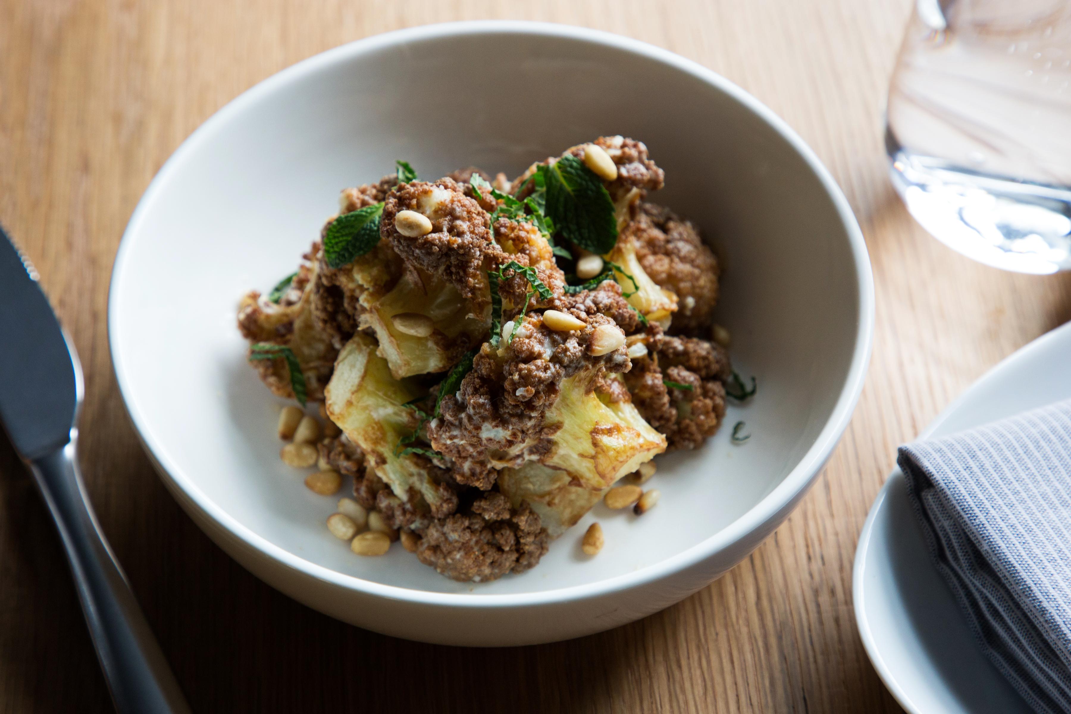 Caramelized cauliflower from Chloe is now available for takeout