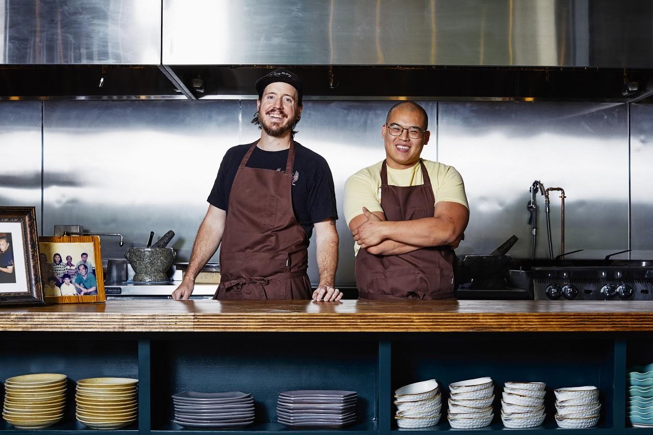 Chefs Rod Lassiter and Parnass Lim Savang of Talat Market in Summerhill, Atlanta, GA