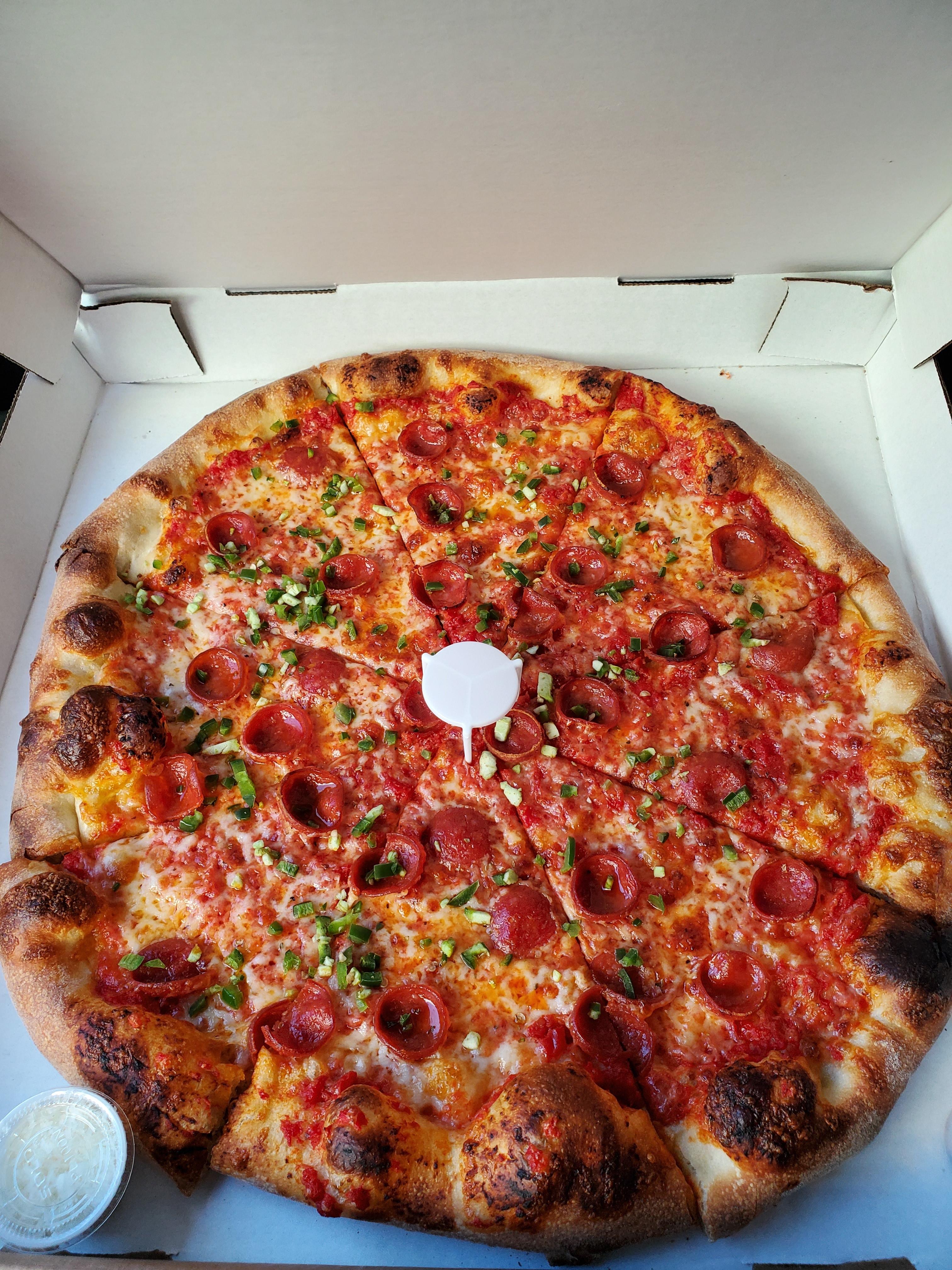 A New York-style pizza from Della Barba