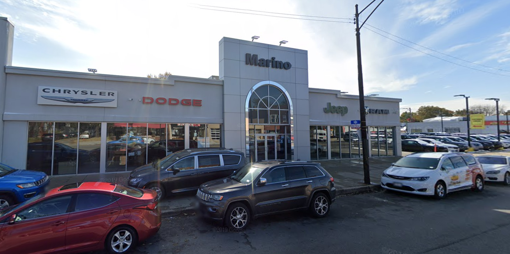 Three people were arrested after a break-in April 25, 2020, at Marino Chrysler Jeep Dodge, 5133 W. Irving Park Road.
