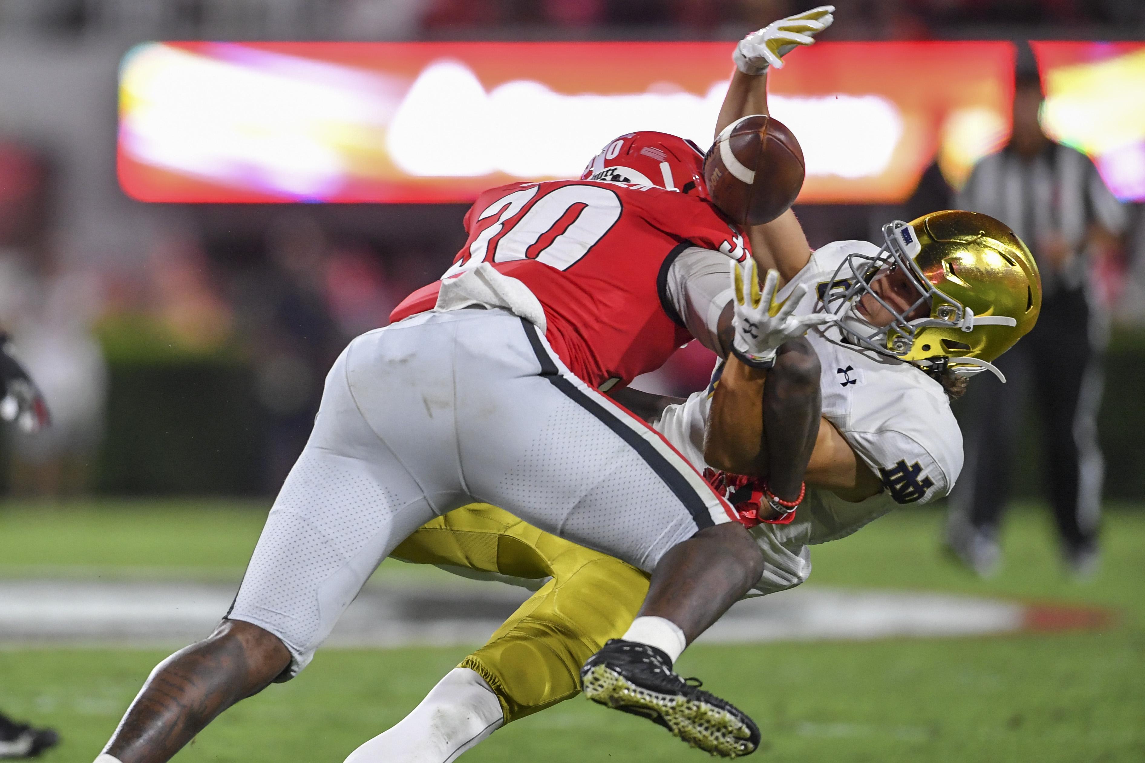 NCAA Football: Notre Dame at Georgia