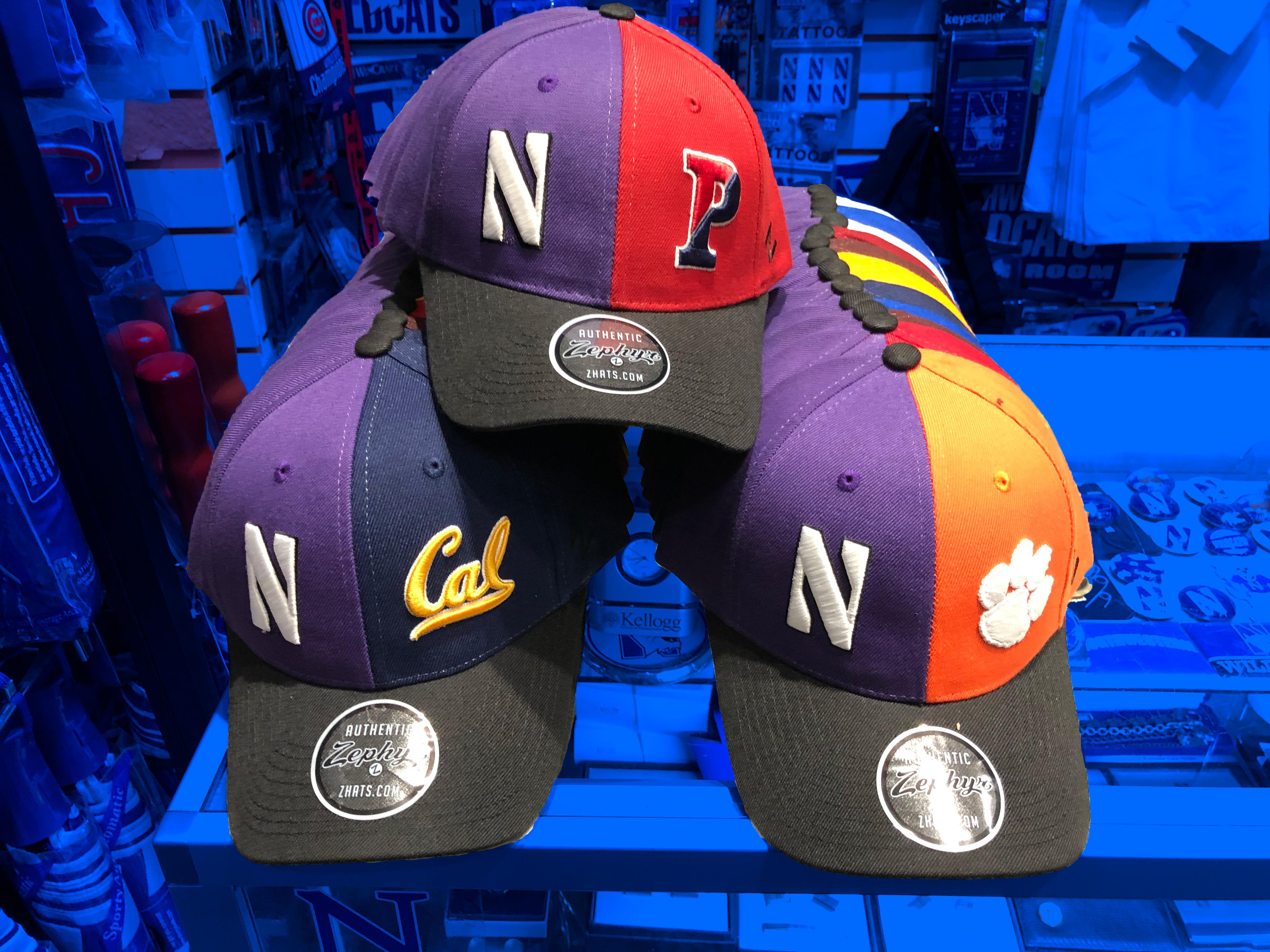 Northwestern hats.