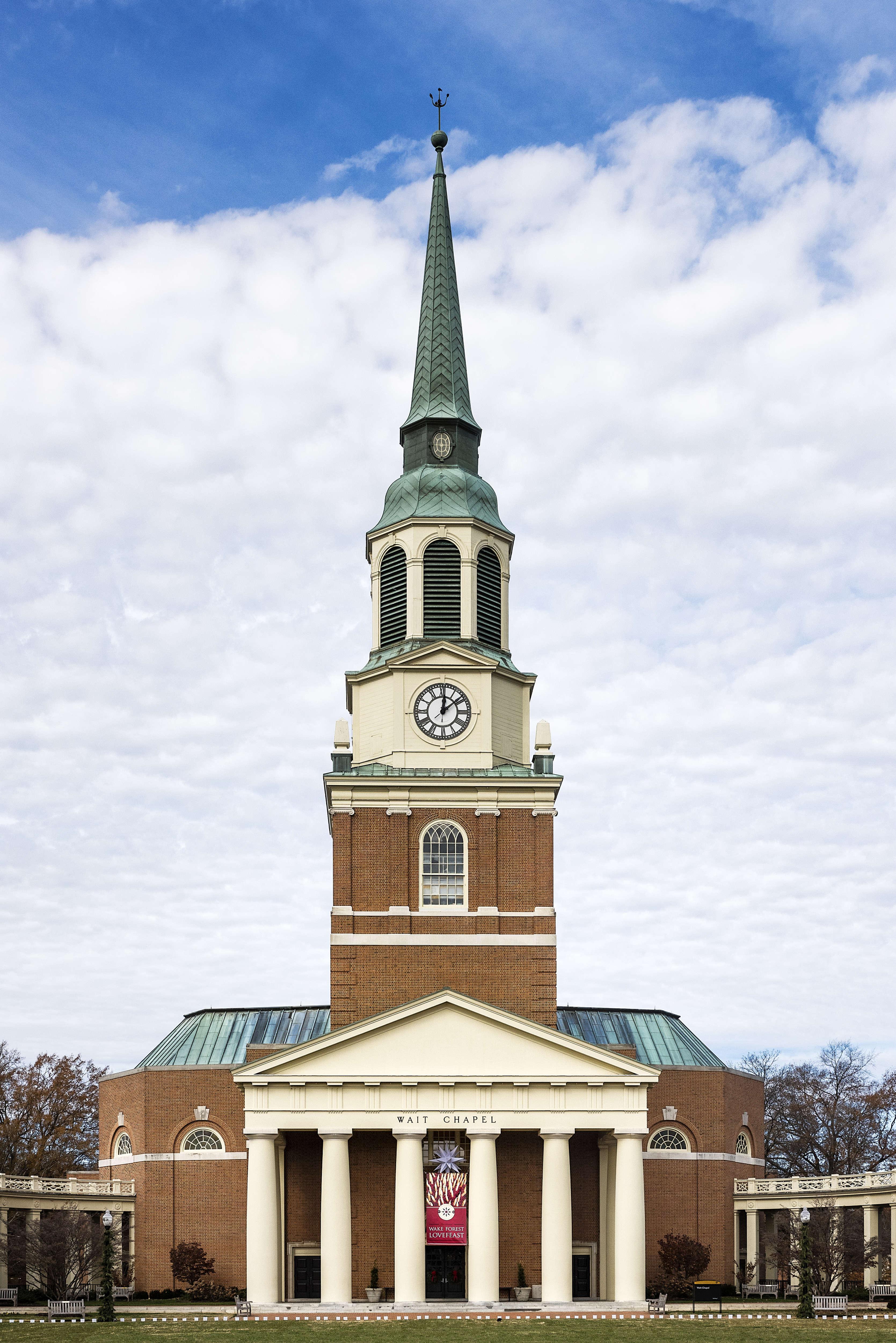 Wait Chapel on Wake Forest University campus at Winston-...