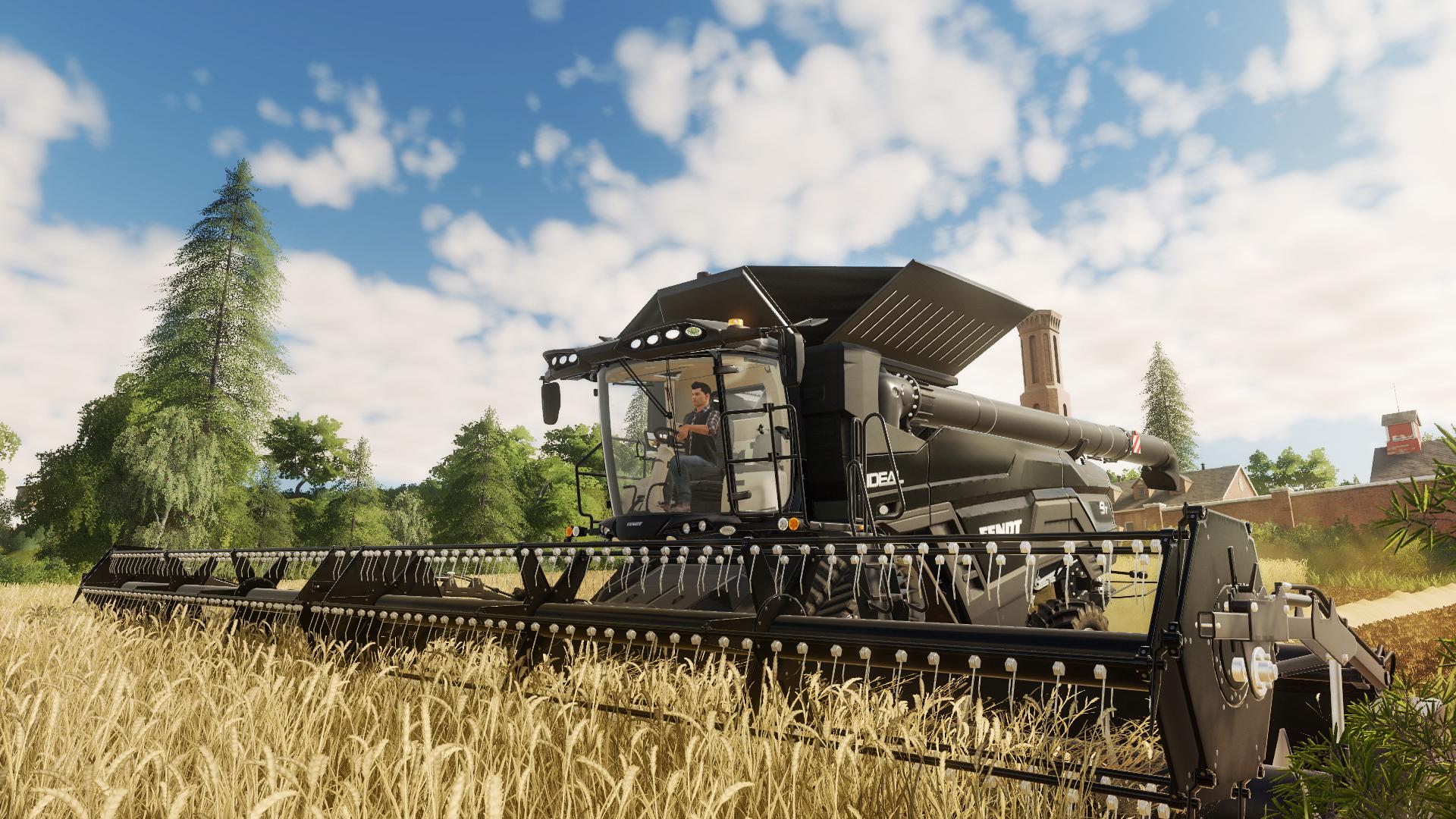 a big tractor in Farming Simulator 19