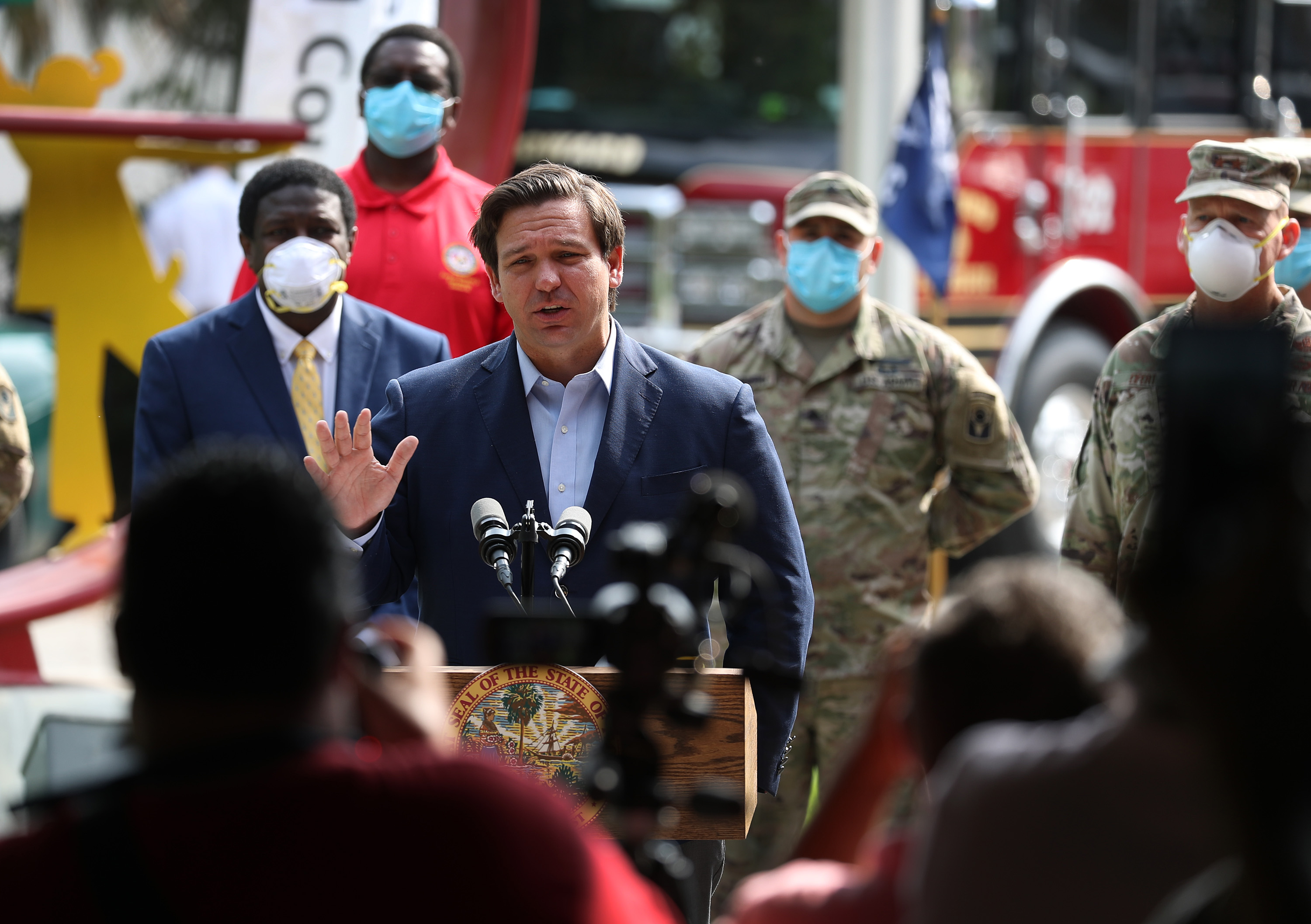 Florida Governor Ron DeSantis Holds Media Briefing On Coronavirus Outbreak