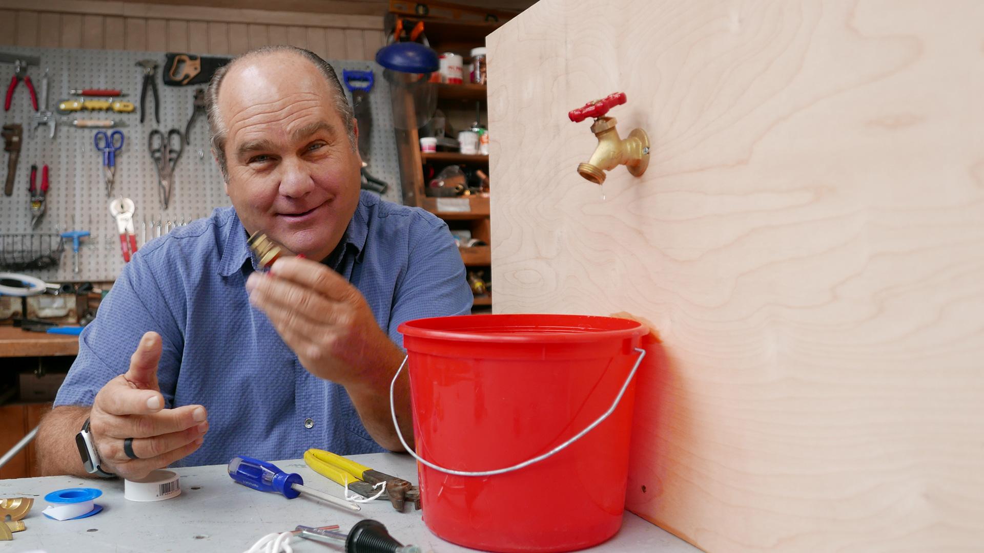 Fix a leaky hose spigot