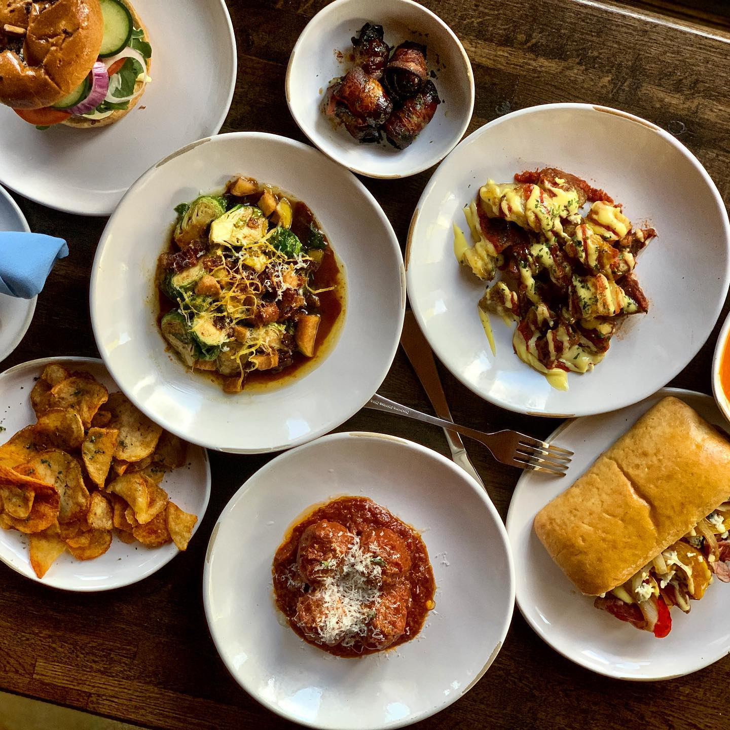 Dishes from Frog & the Bull