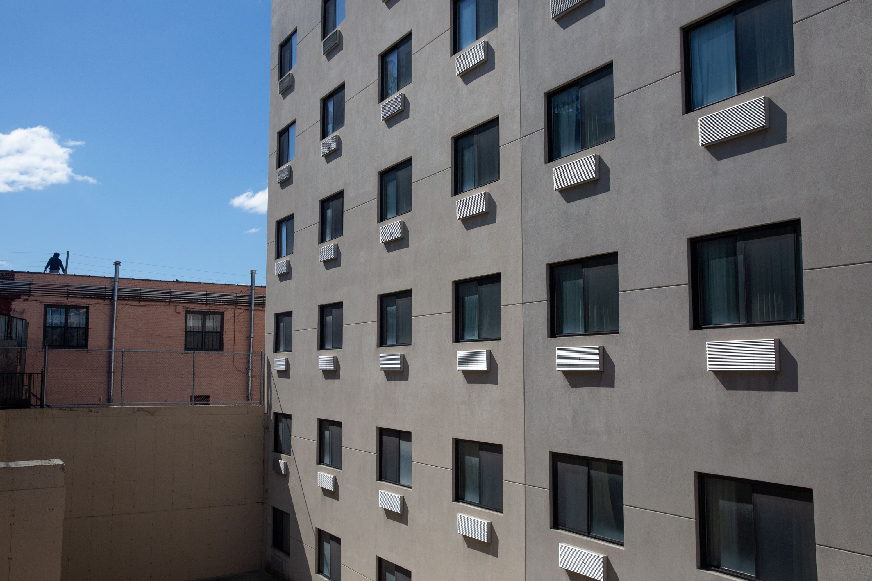 A Jamaica, Queens shelter hotel where people were being isolated during the coronavirus outbreak.