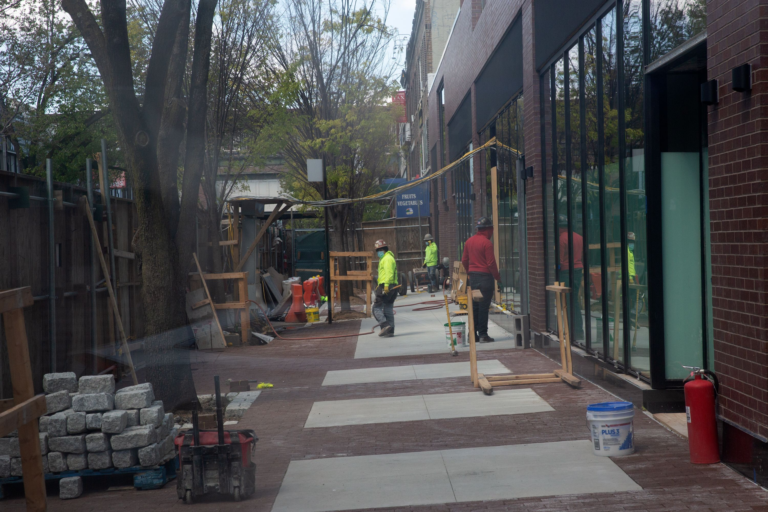 Construction of a new Target on 82nd Street in Elmhurst was still going on during the coronavirus epidemic.